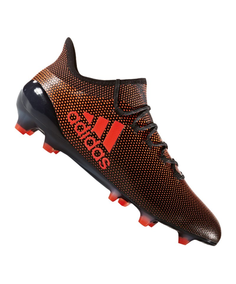 adidas FG X 17.1 Schwarz Rot Orange - schwarz