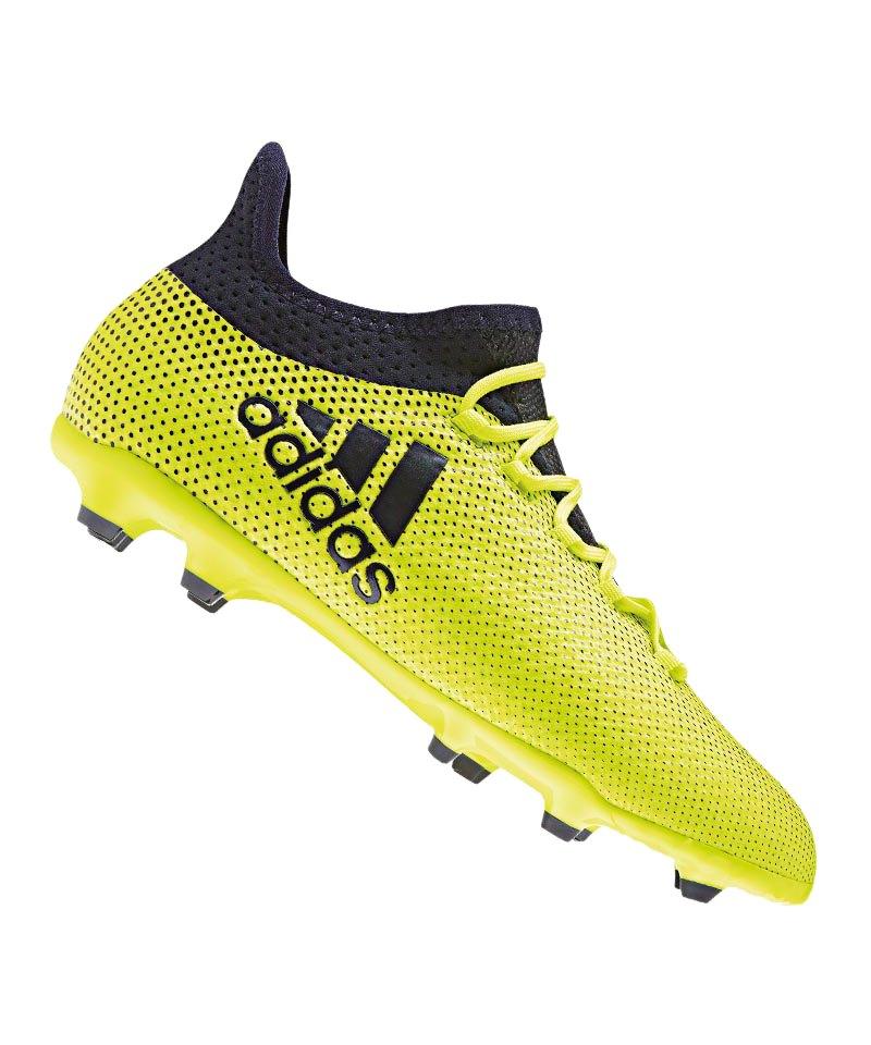 adidas FG X 17.1 J Kinder Gelb Blau - gelb