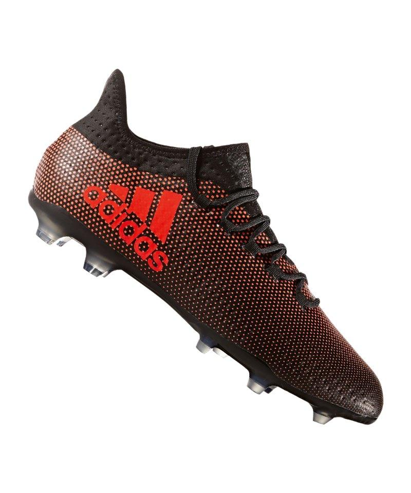 adidas X 17.2 FG Schwarz Rot - schwarz