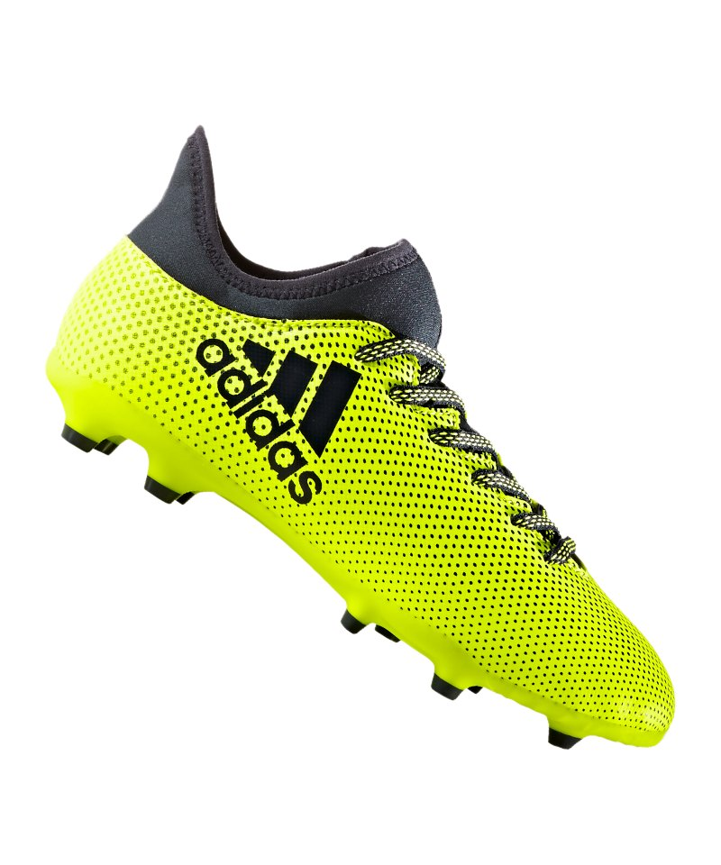 adidas FG X 17.3 J Kinder Gelb Blau - gelb