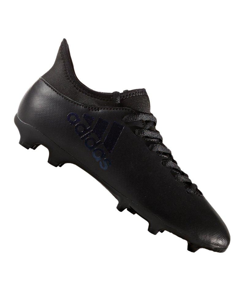 adidas FG X 17.3 J Kinder Schwarz - schwarz