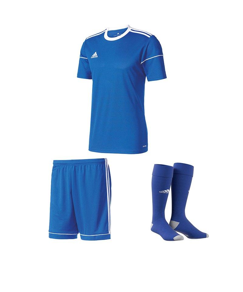 adidas Trikotset Squadra 17 Blau - blau