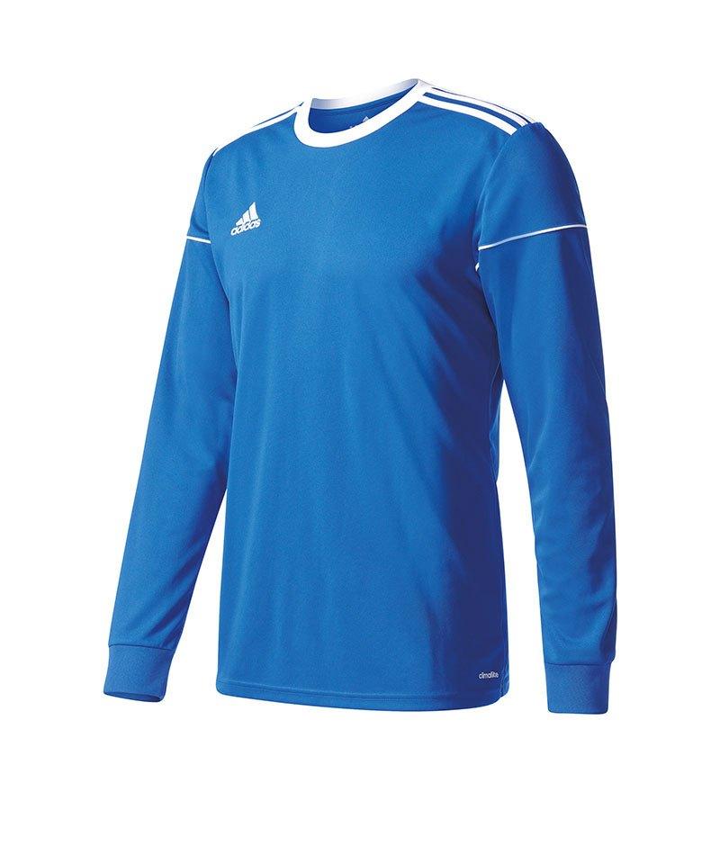 adidas Trikot Squadra 17 langarm Blau Weiss - blau