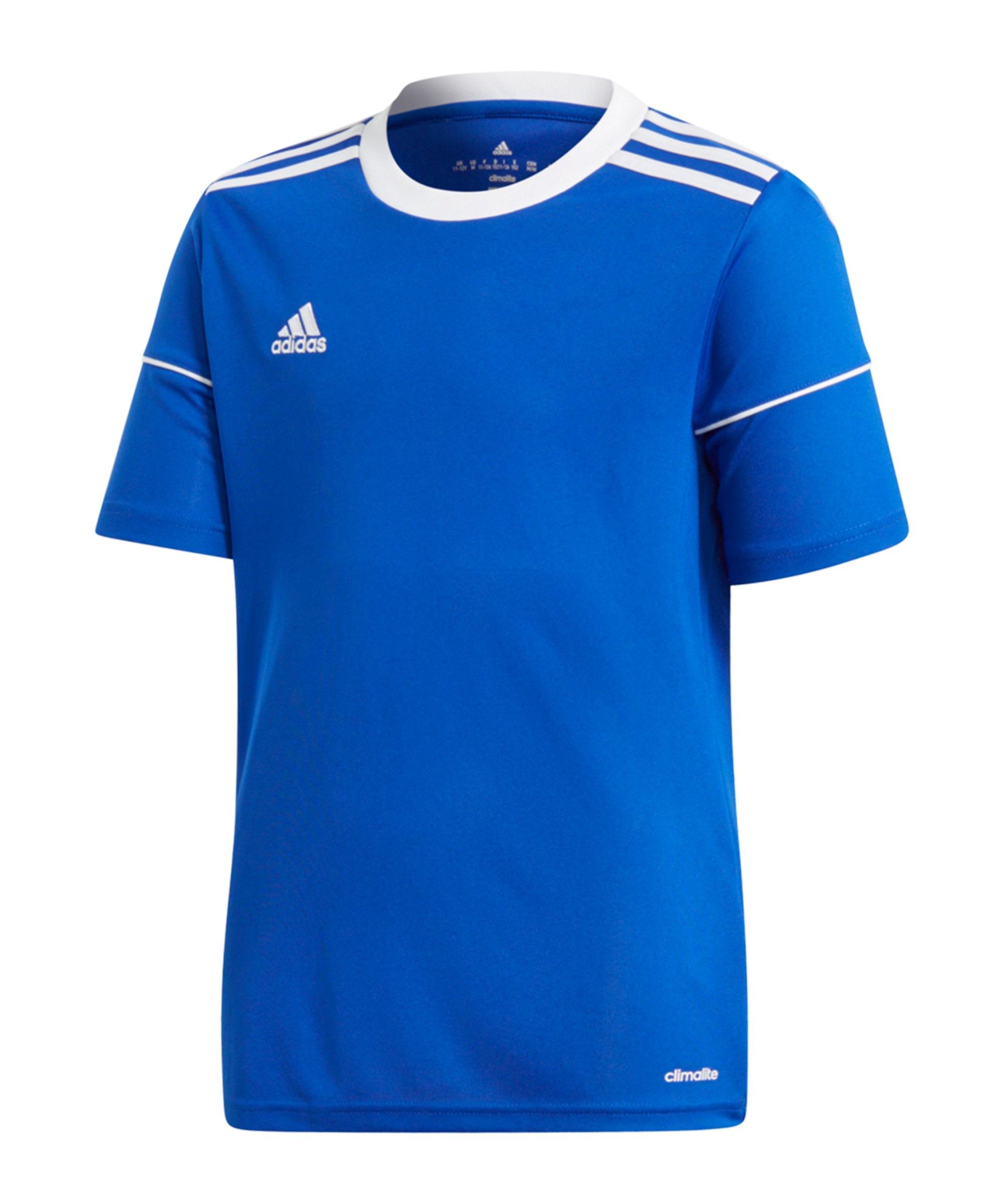 adidas Squad 17 Trikot Kids Blau Weiss - blau