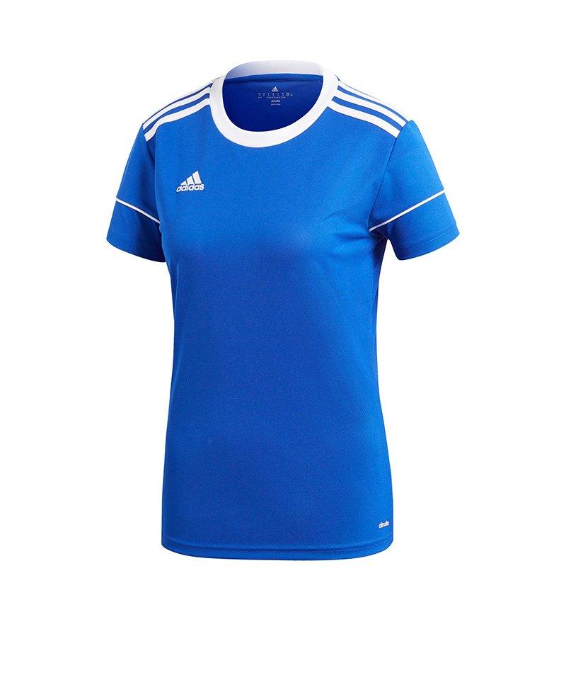 adidas Squadra 17 Trikot kurzarm Damen Blau Weiss - blau