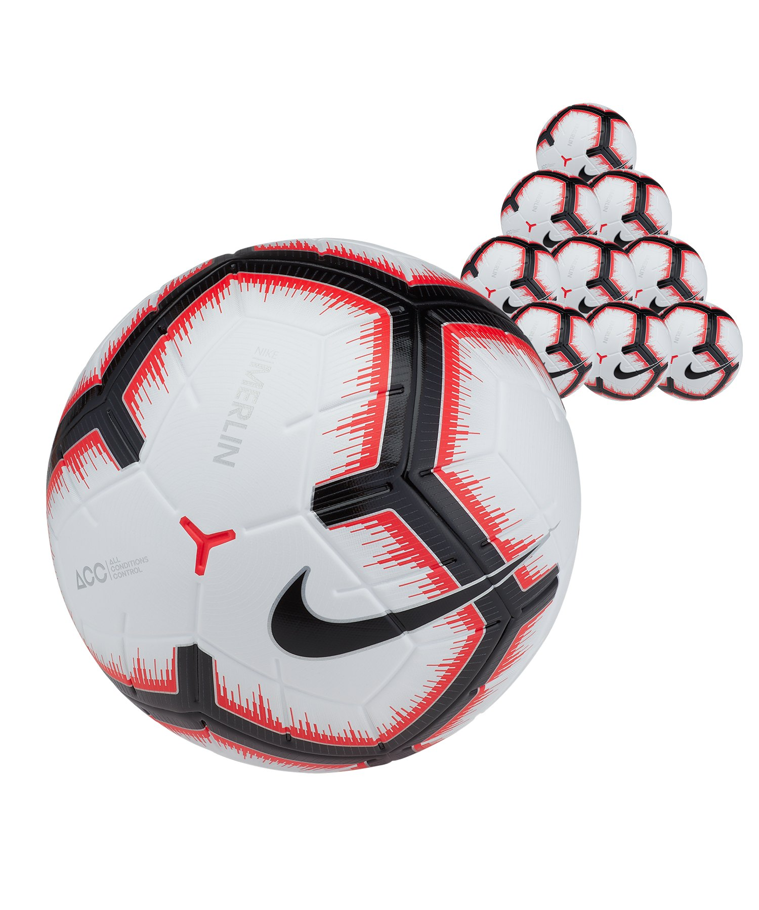 Nike Merlin 10x Spielball Weiss F100 - weiss