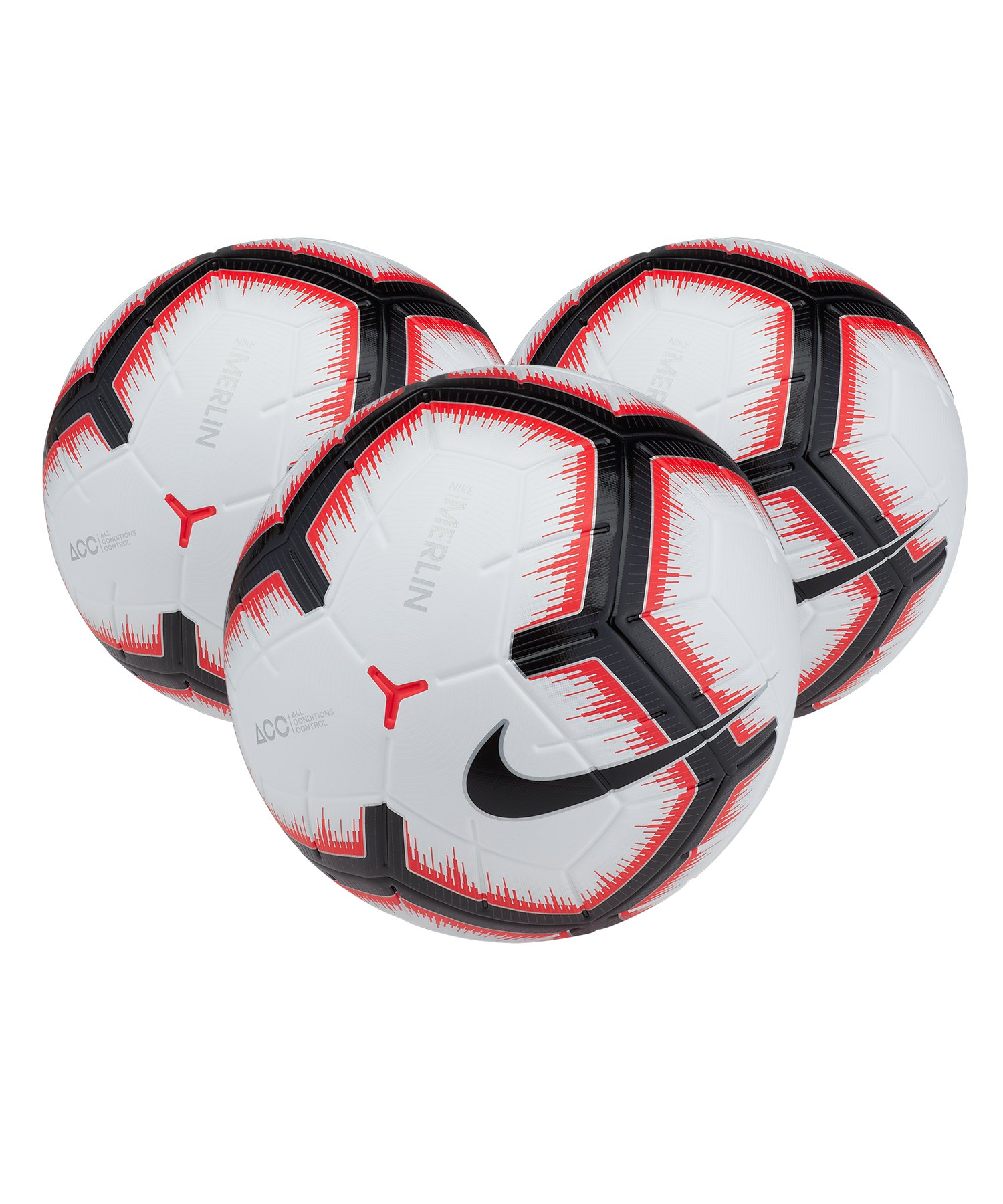 Nike Merlin 3x Spielball Weiss F100 - weiss