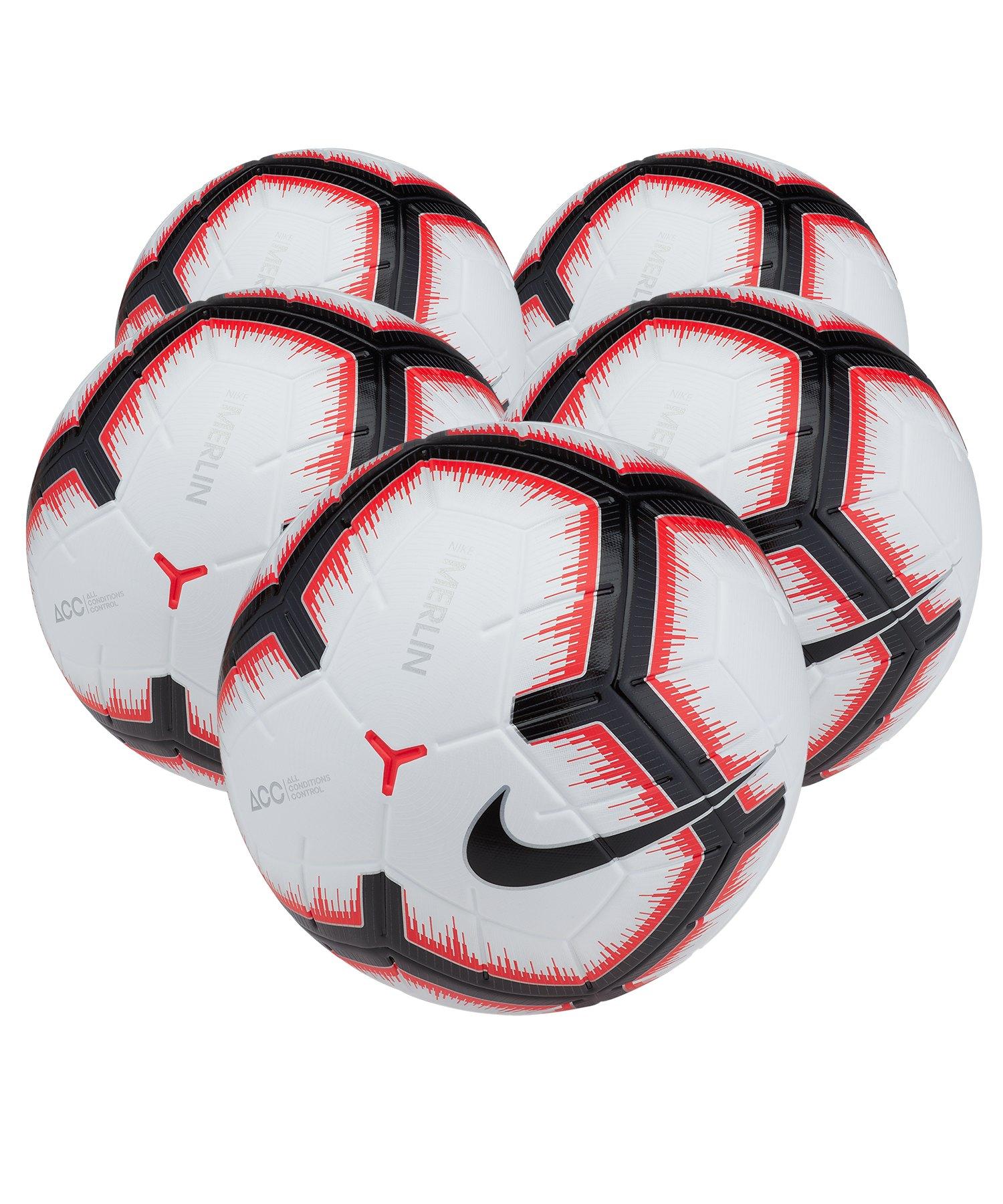 Nike Merlin 5x Spielball Weiss F100 - weiss