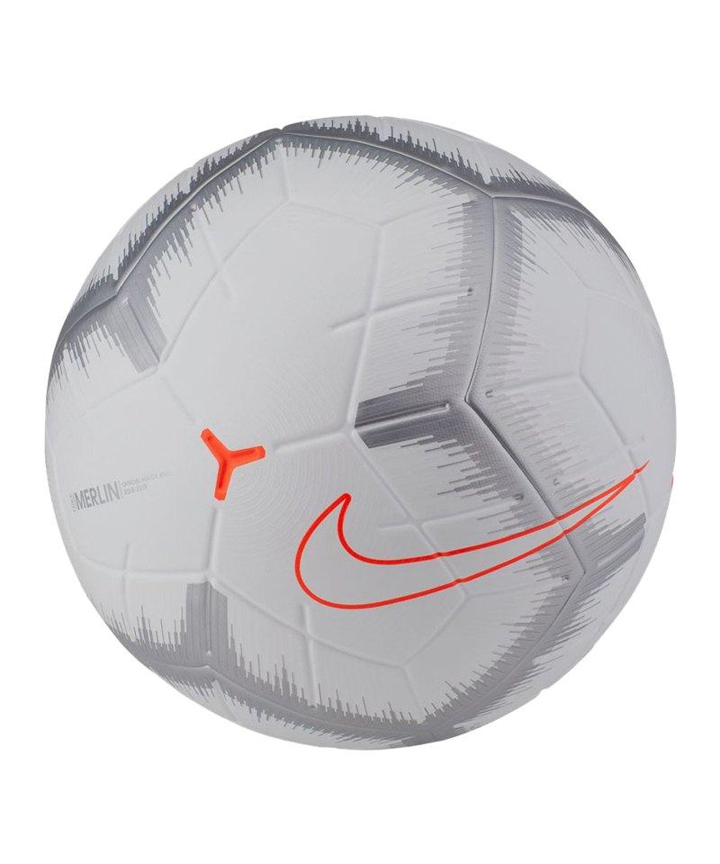 Nike Merlin Spielball Fussball Weiss F100 - weiss