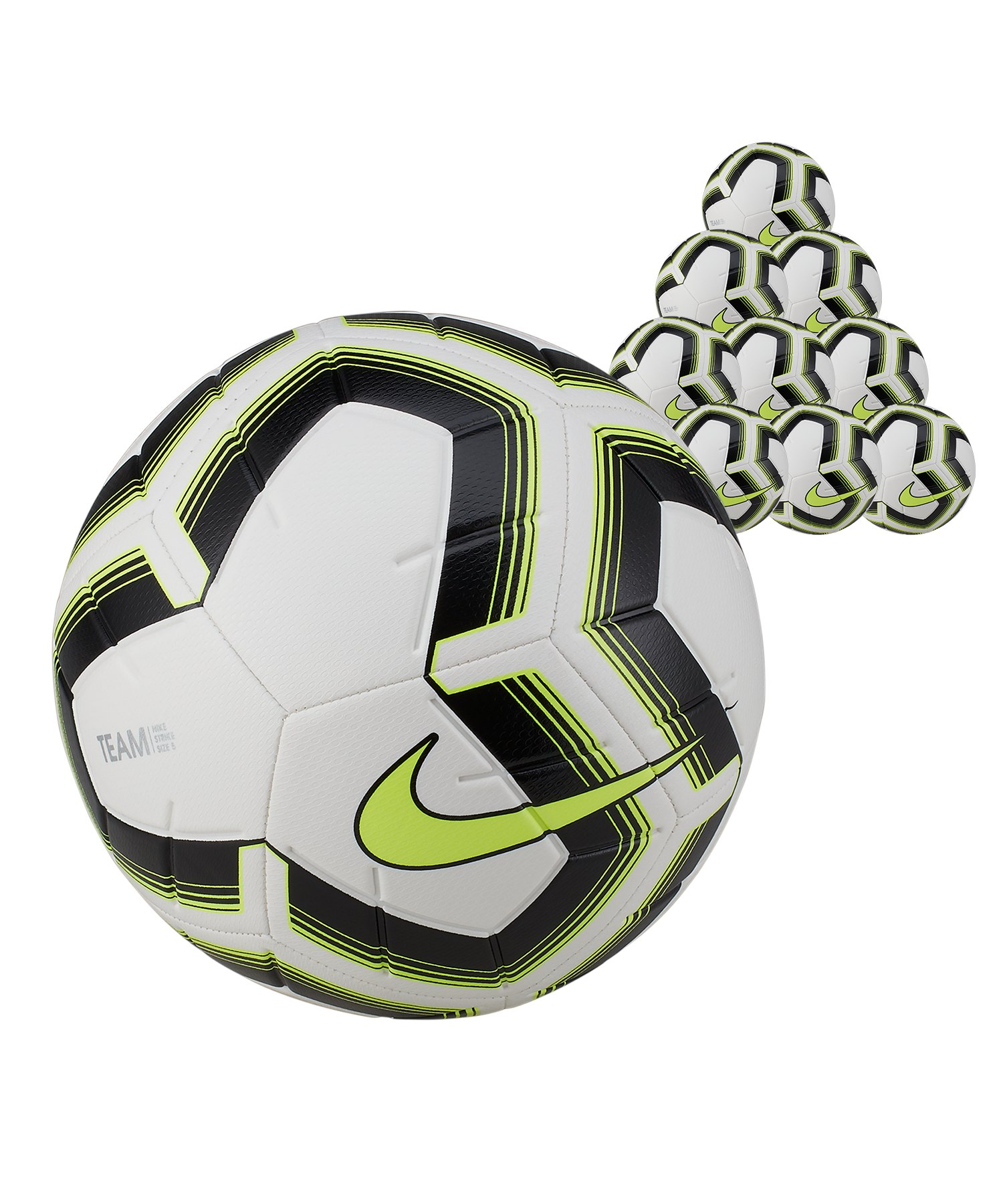 Nike Strike Team 20x Trainingsball Gr.5 Weiss F102 - weiss