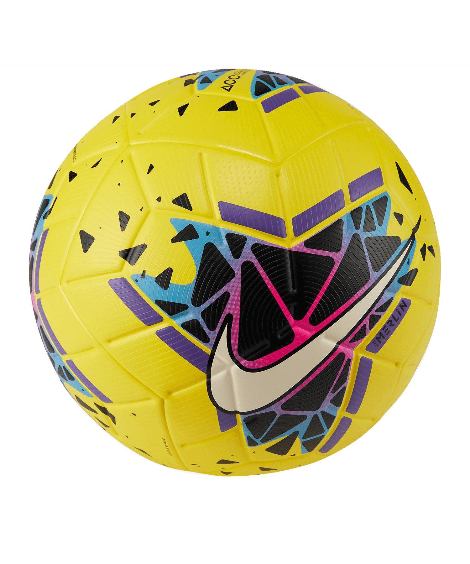 Nike Merlin FA19 Spielball Gelb Schwarz F710 - gelb