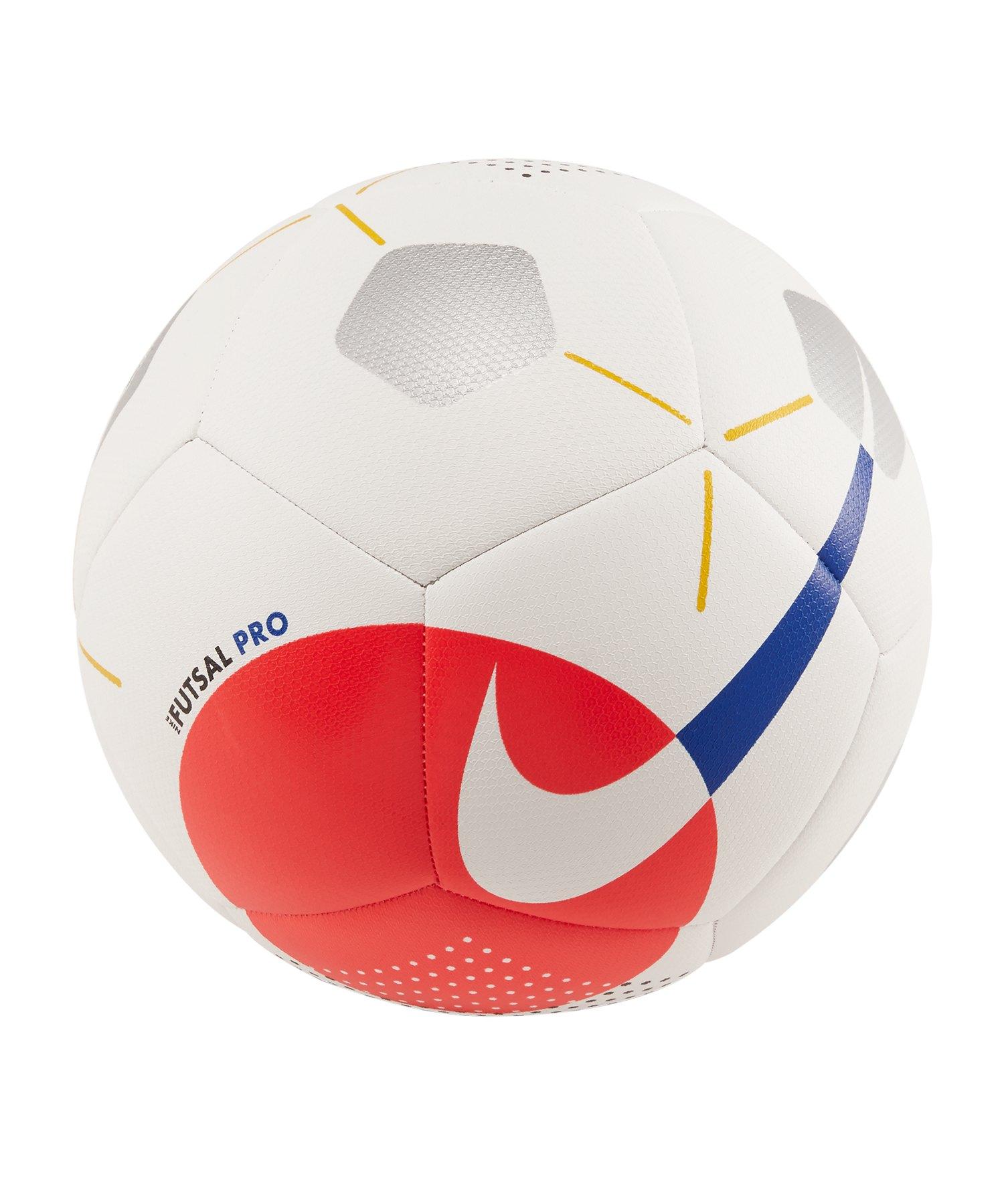Nike Pro Futsalball Weiss Rot F100 - weiss