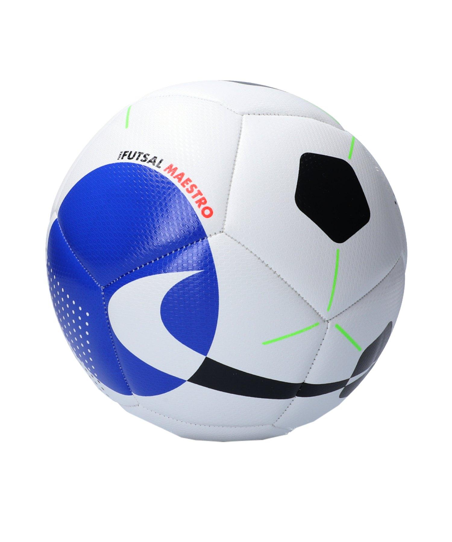 Nike Maestro Trainingsball Weiss Blau F100 - weiss