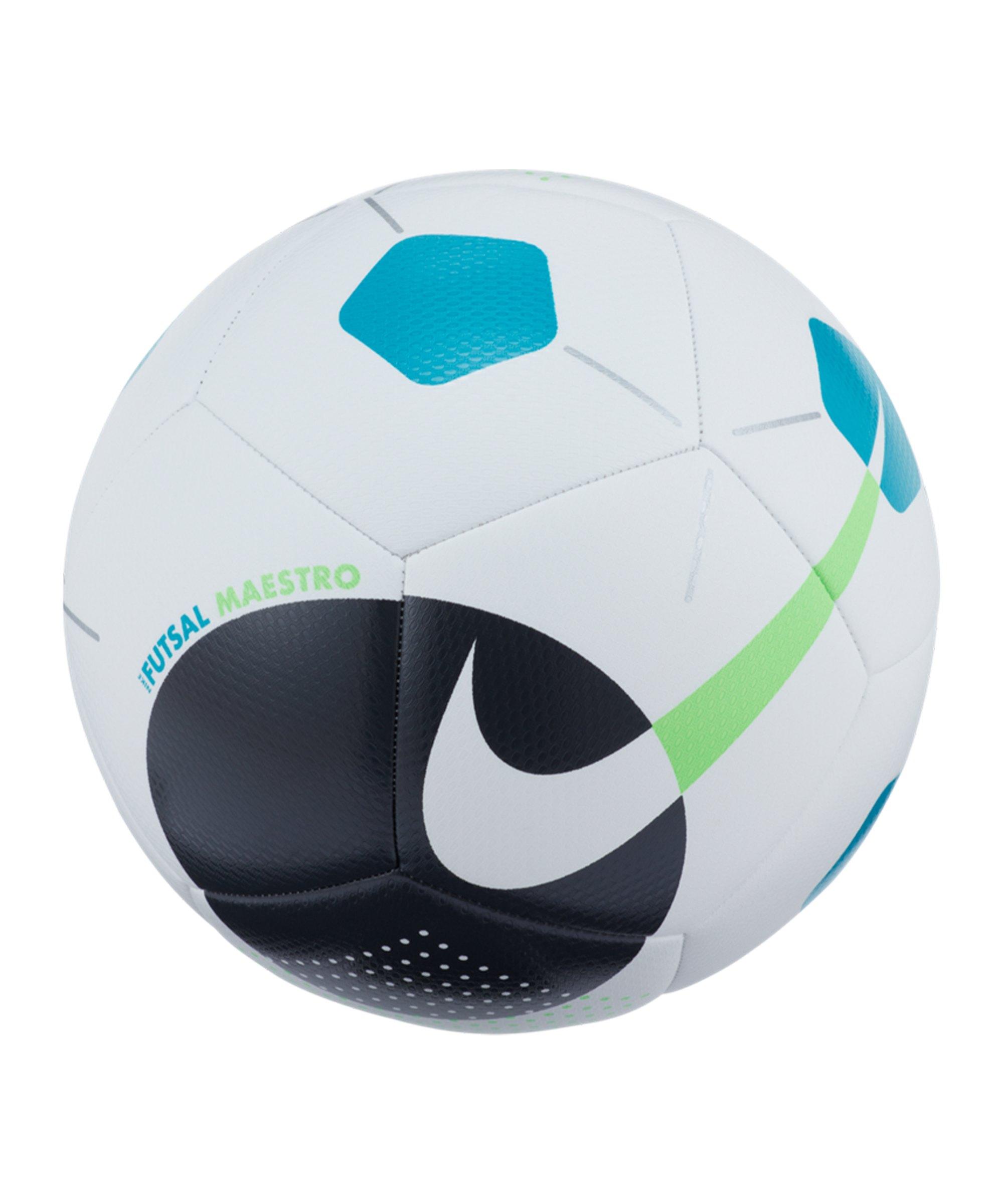 Nike Maestro Trainingsball Weiss Grün F103 - weiss