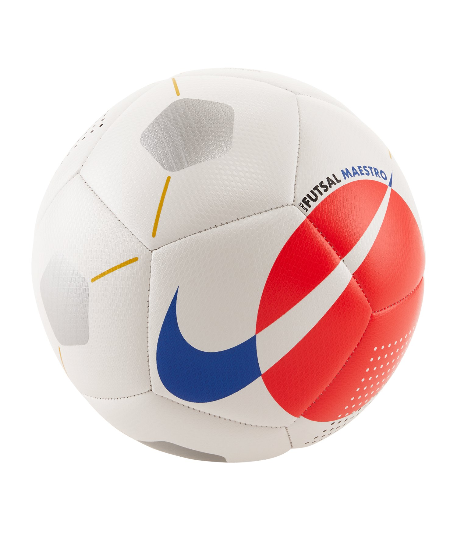 Nike Maestro Trainingsball Weiss Rot F101 - weiss