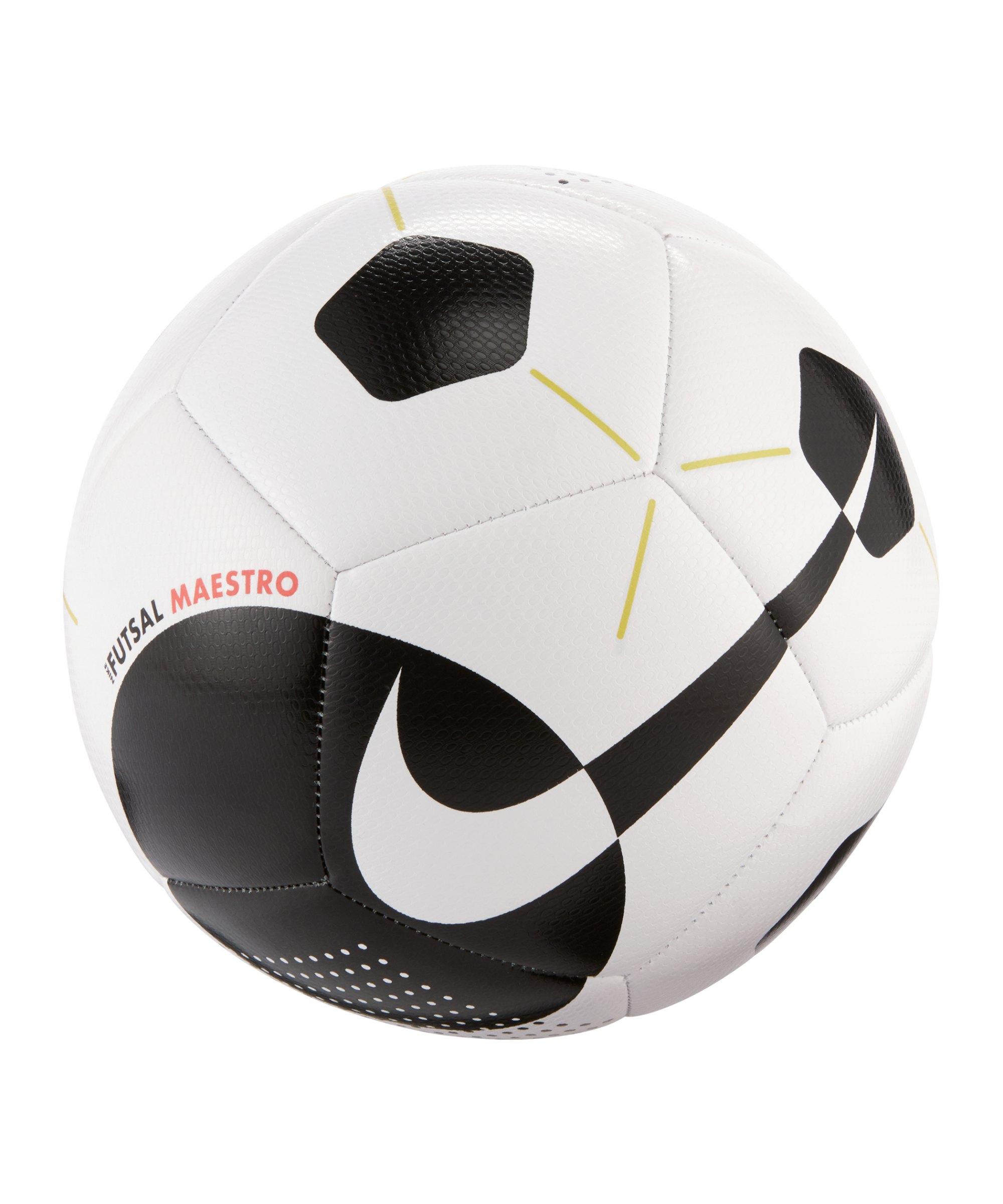 Nike Maestro Trainingsball Weiss Schwarz F104 - weiss