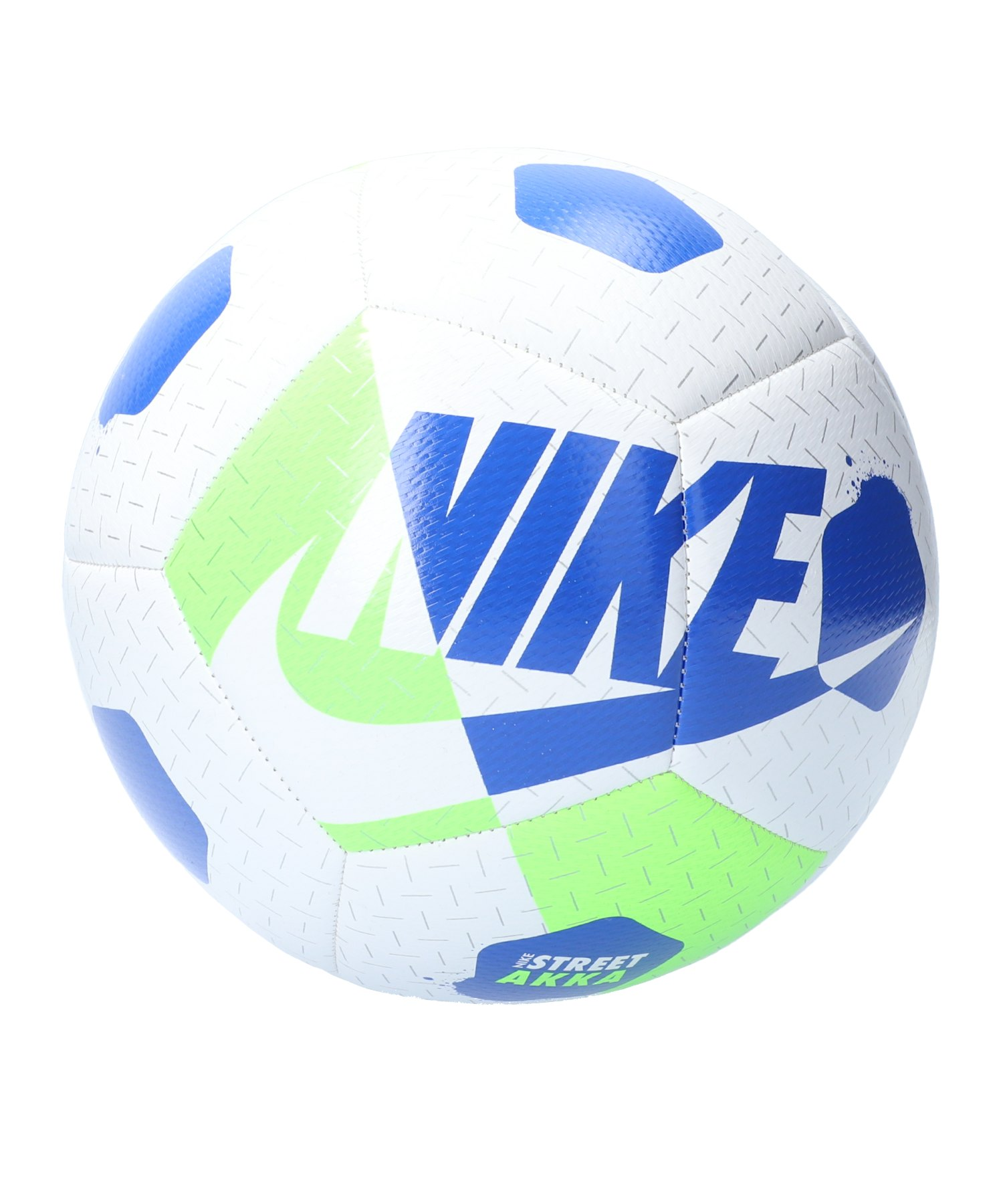 Nike Street Akka Trainingsball Weiss Grün F100 - weiss