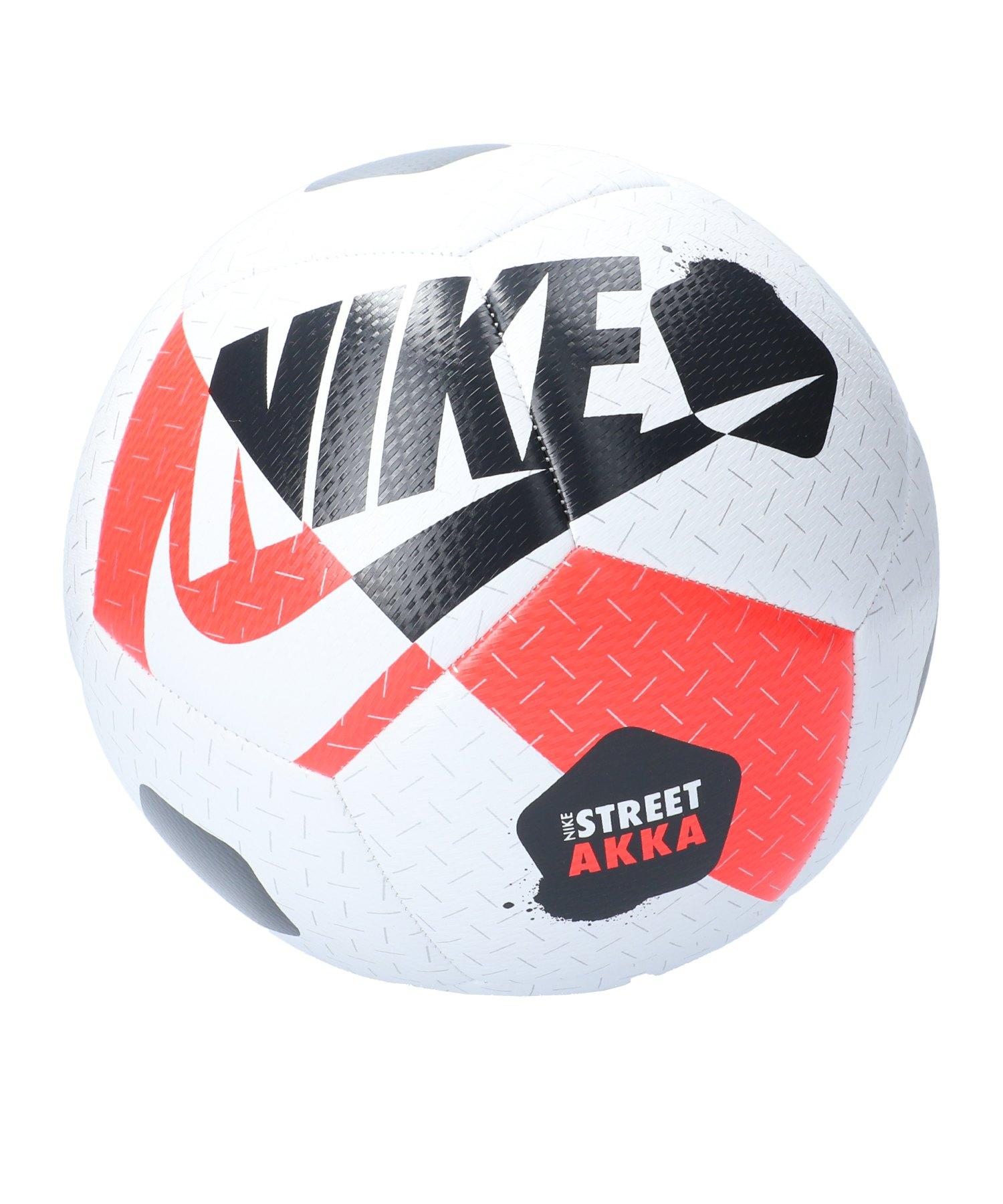 Nike Street Akka Trainingsball Weiss Rot F101 - weiss