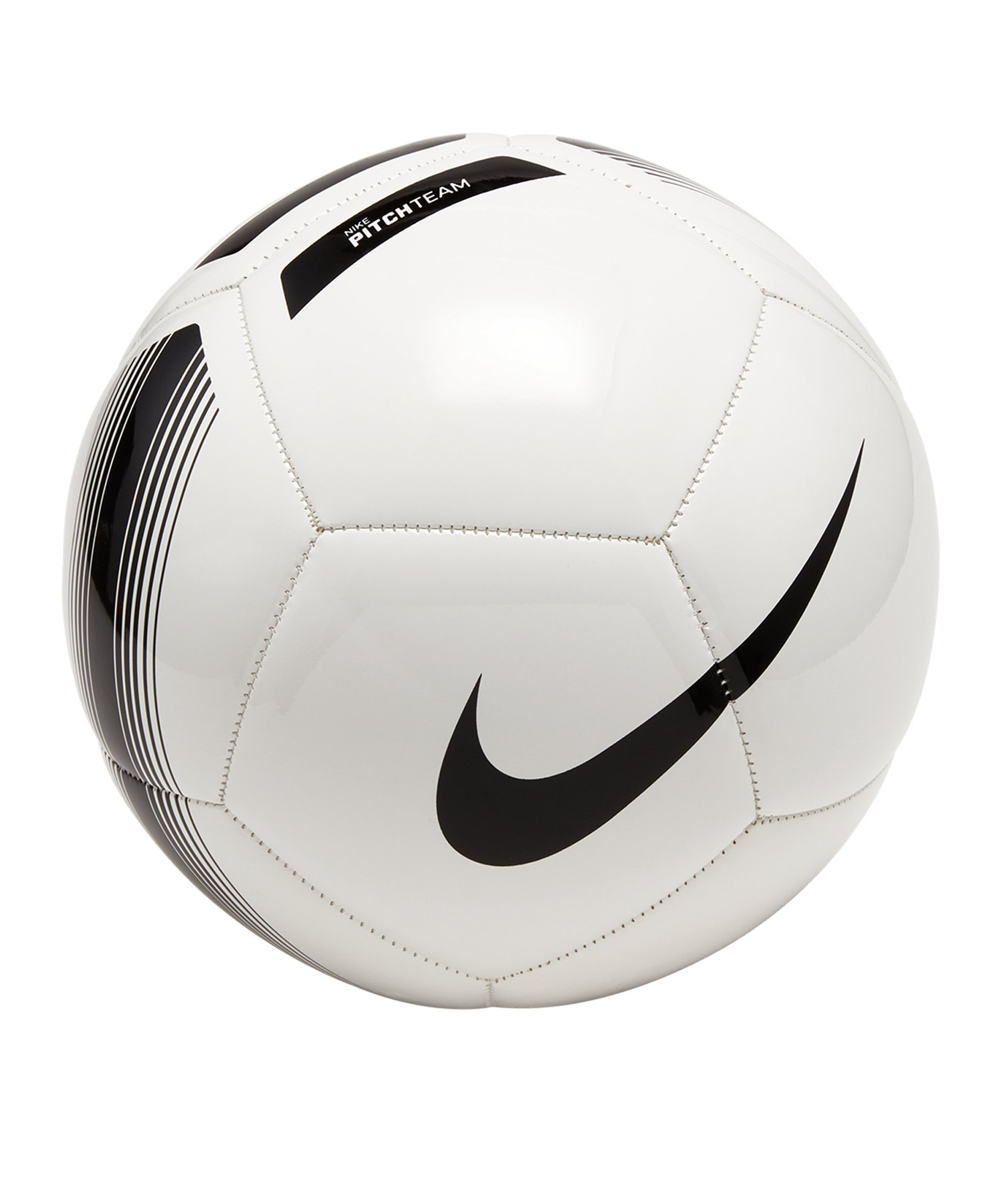 Nike Pitch Team Trainingsball Weiss F100 - weiss