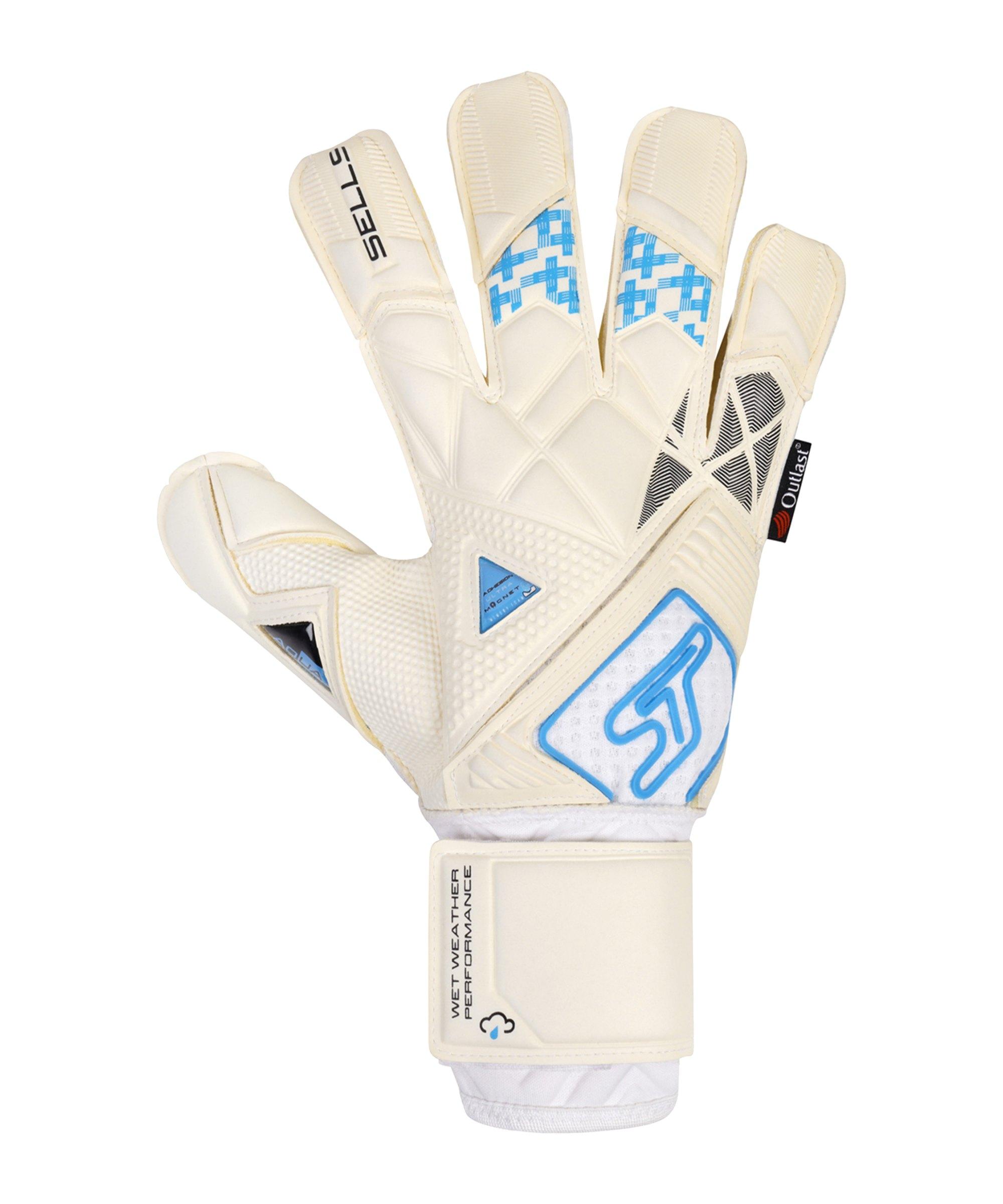 Sells Total Contact Aqua Ultimate TW-Handschuh Weiss Schwarz Blau - weiss