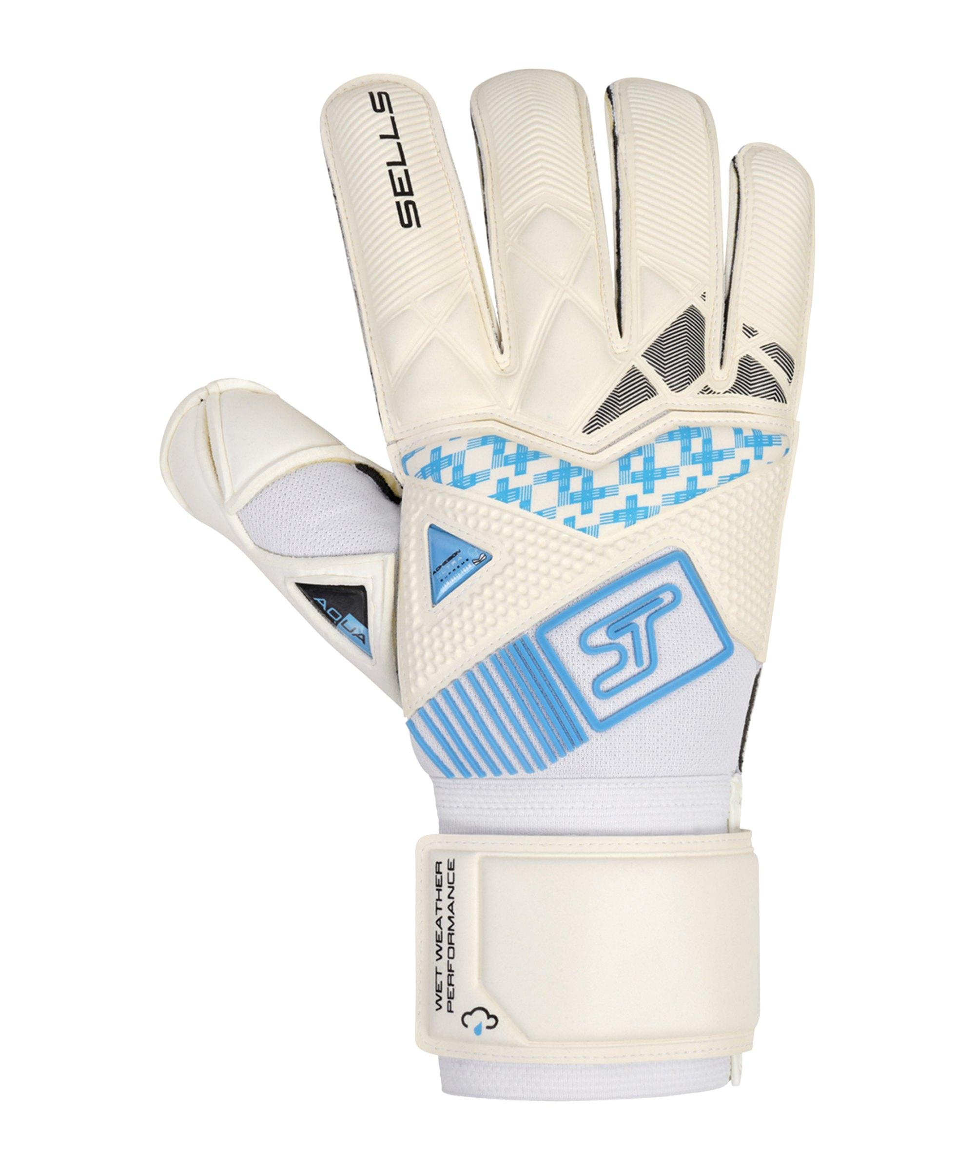 Sells Wrap Aqua H20 TW-Handschuh Weiss Schwarz Blau - weiss