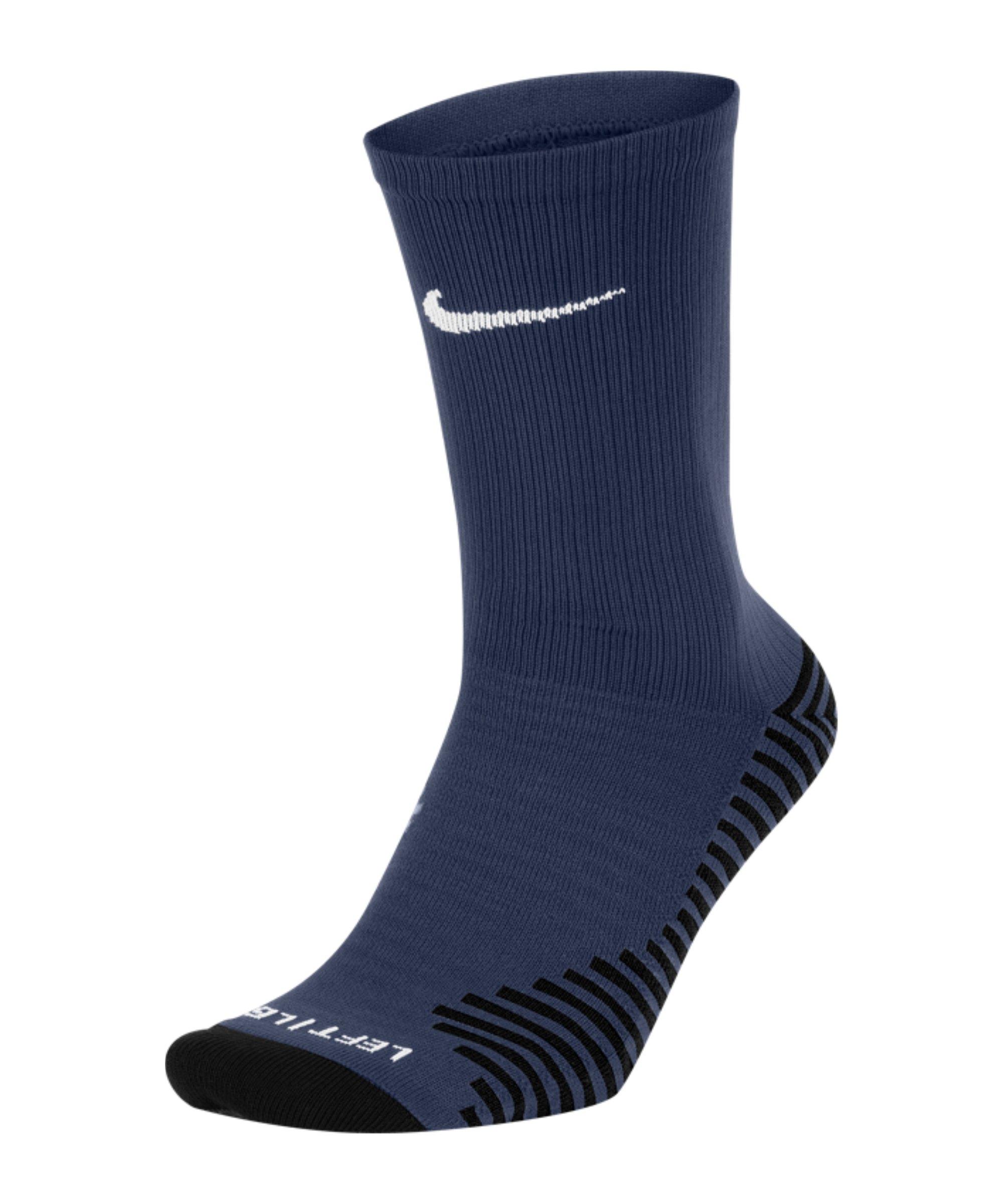 Nike Squad Crew Socken Blau Schwarz F410 - blau