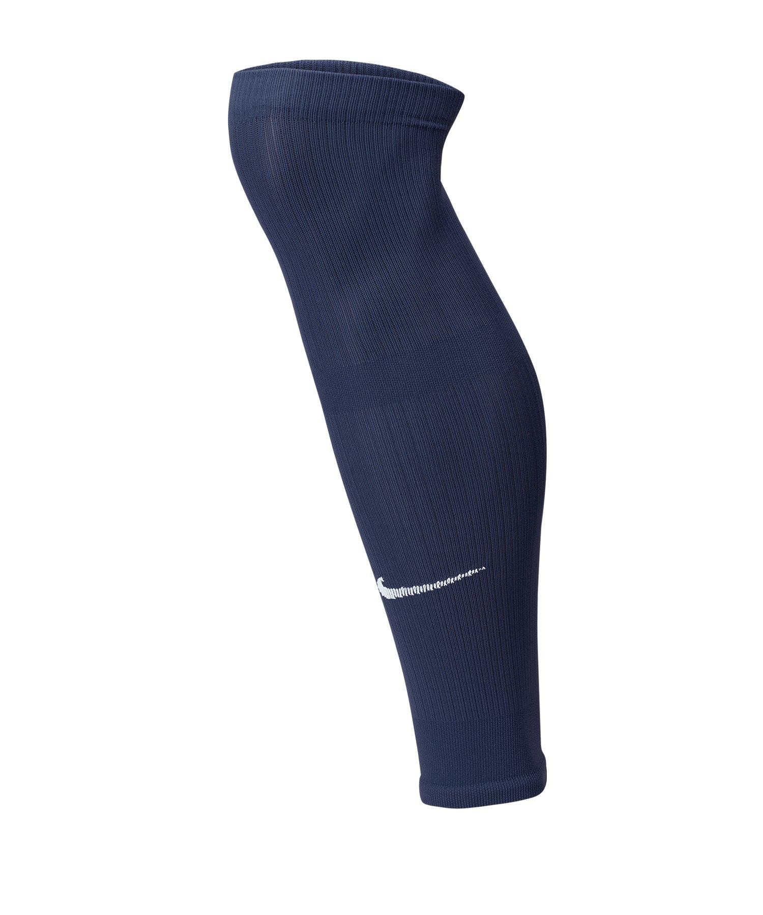 Nike Squad Fussball Leg Sleeves Blau F410 - blau