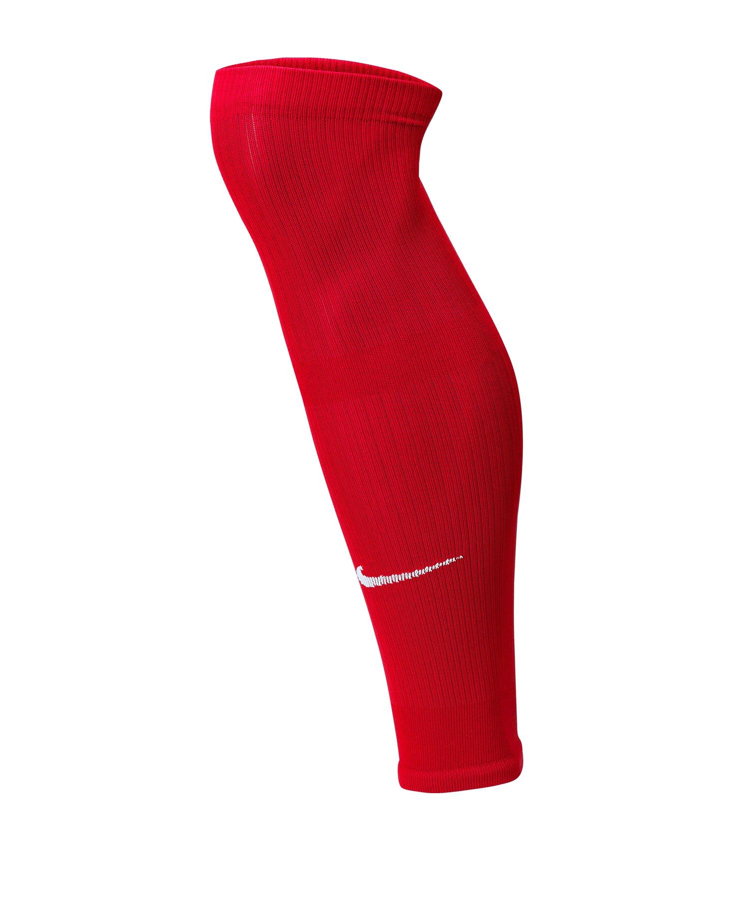 Nike Squad Fussball Leg Sleeves Rot F657 - rot