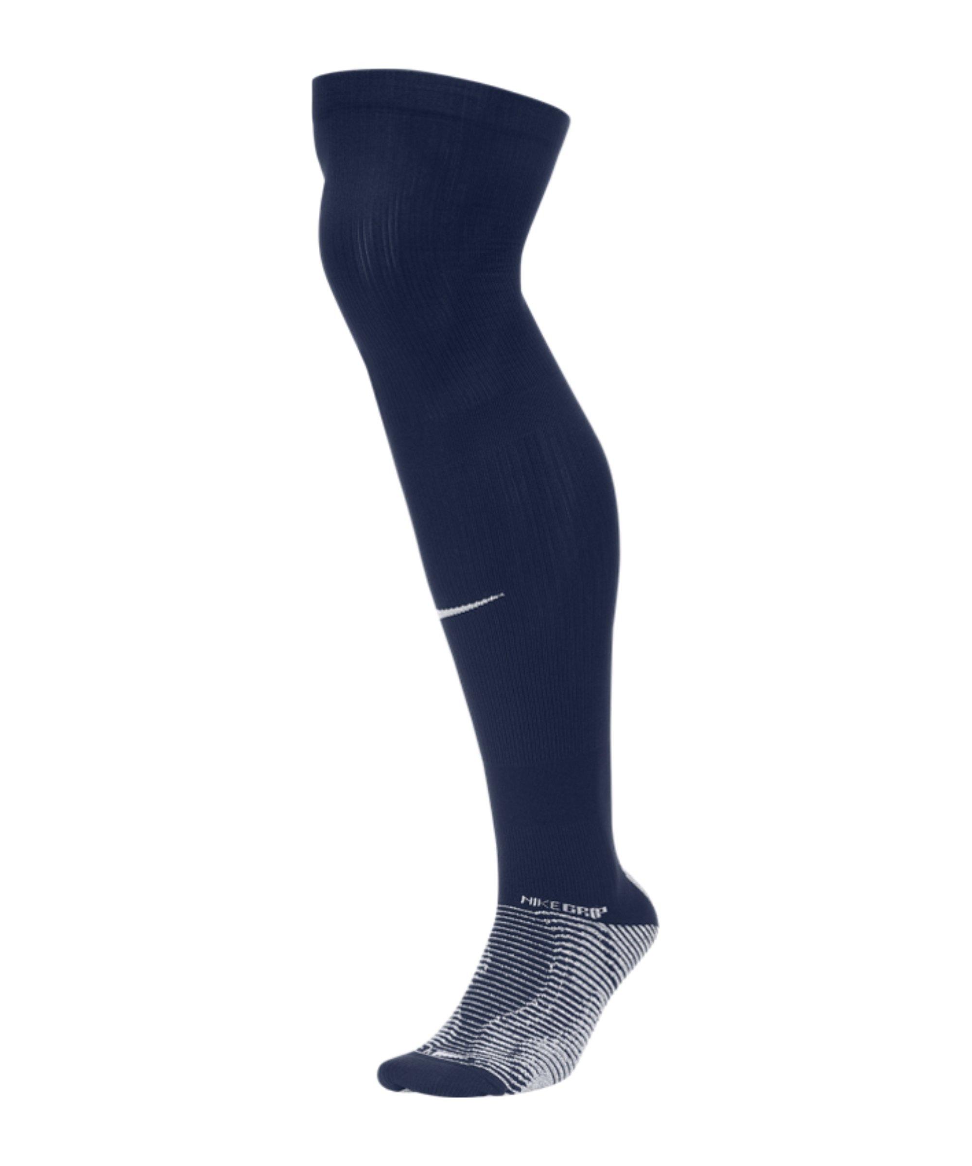 Nike Grip Strike Stutzenstrumpf Blau F410 - blau