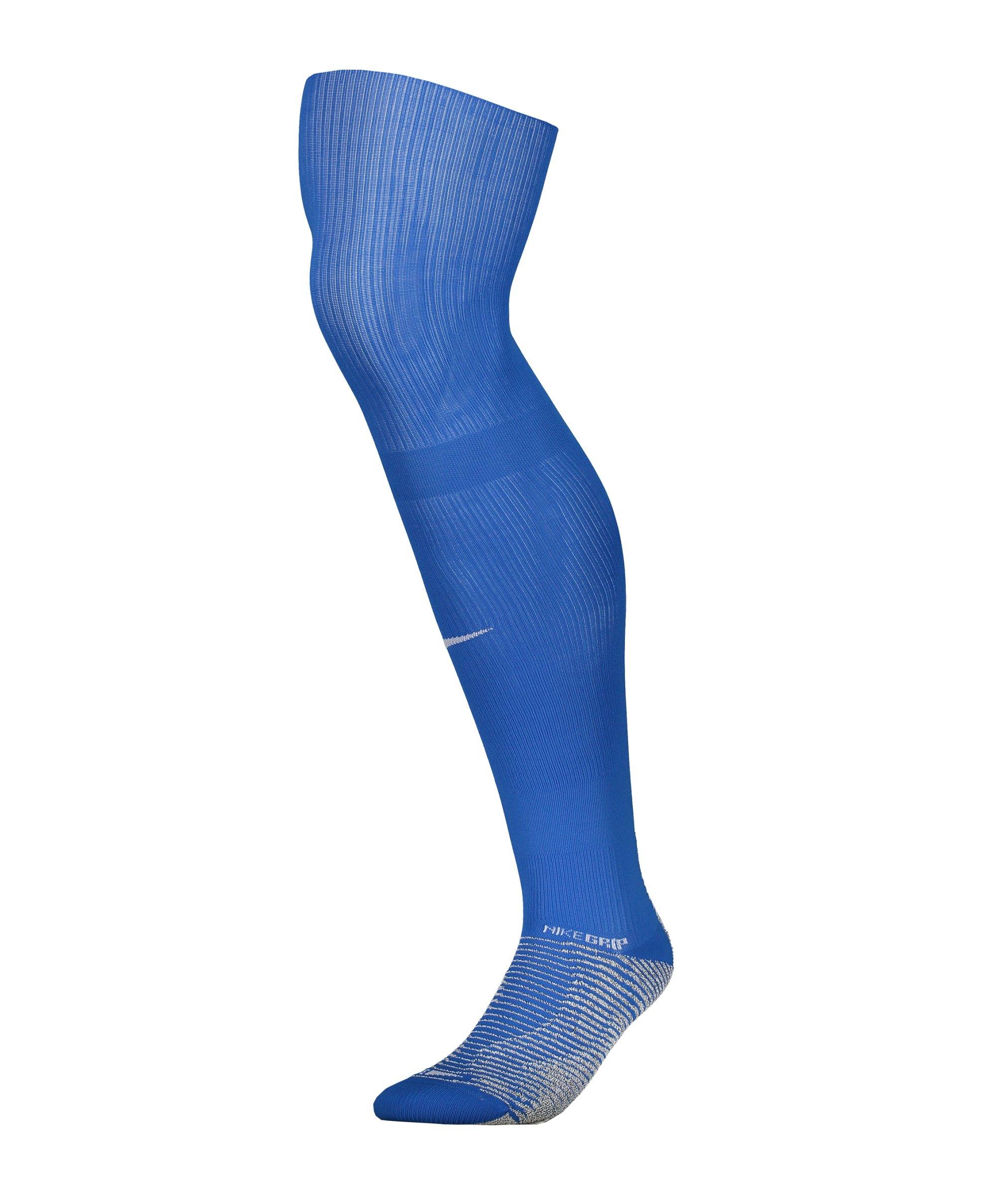 Nike Grip Strike Stutzenstrumpf Blau F463 - blau