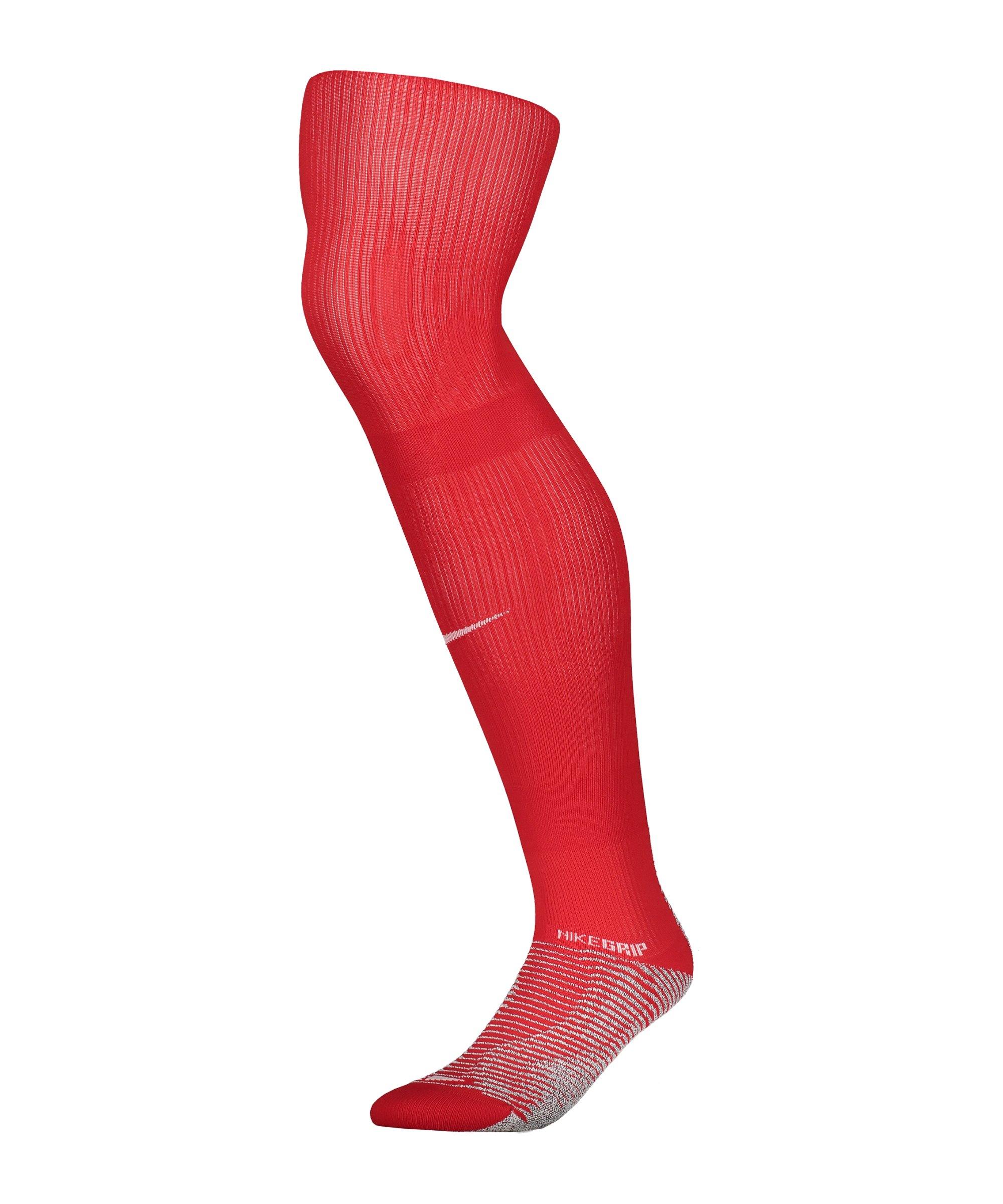 Nike Grip Strike Stutzenstrumpf Rot F657 - rot