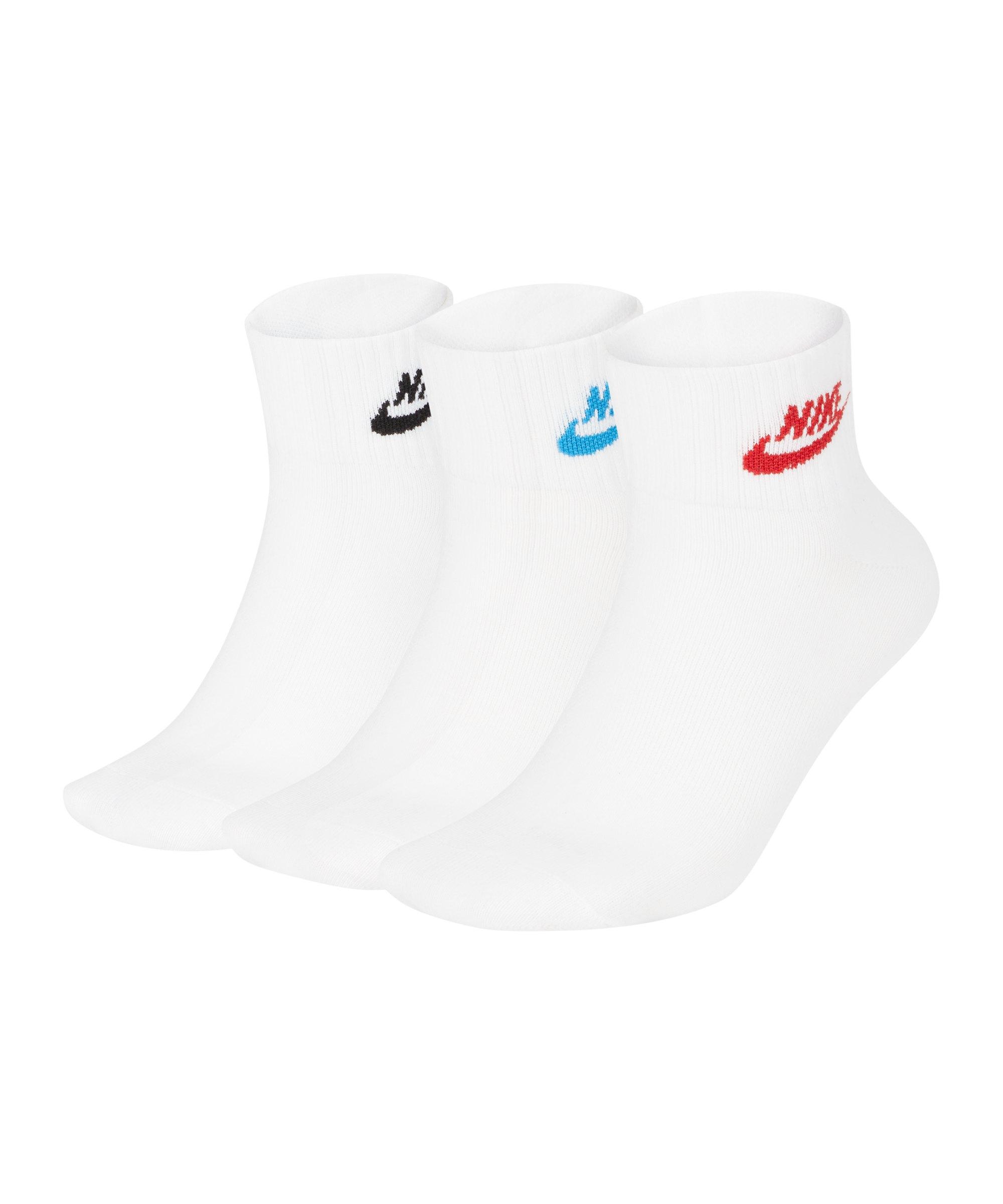 Nike Every Essential Socken 3er Pack Weiss F911 - weiss