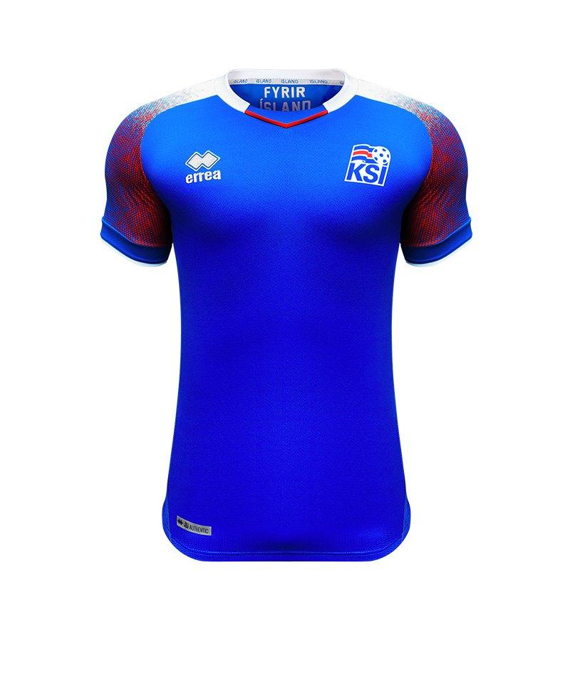 Errea Island Trikot Home WM 2018 Blau - blau