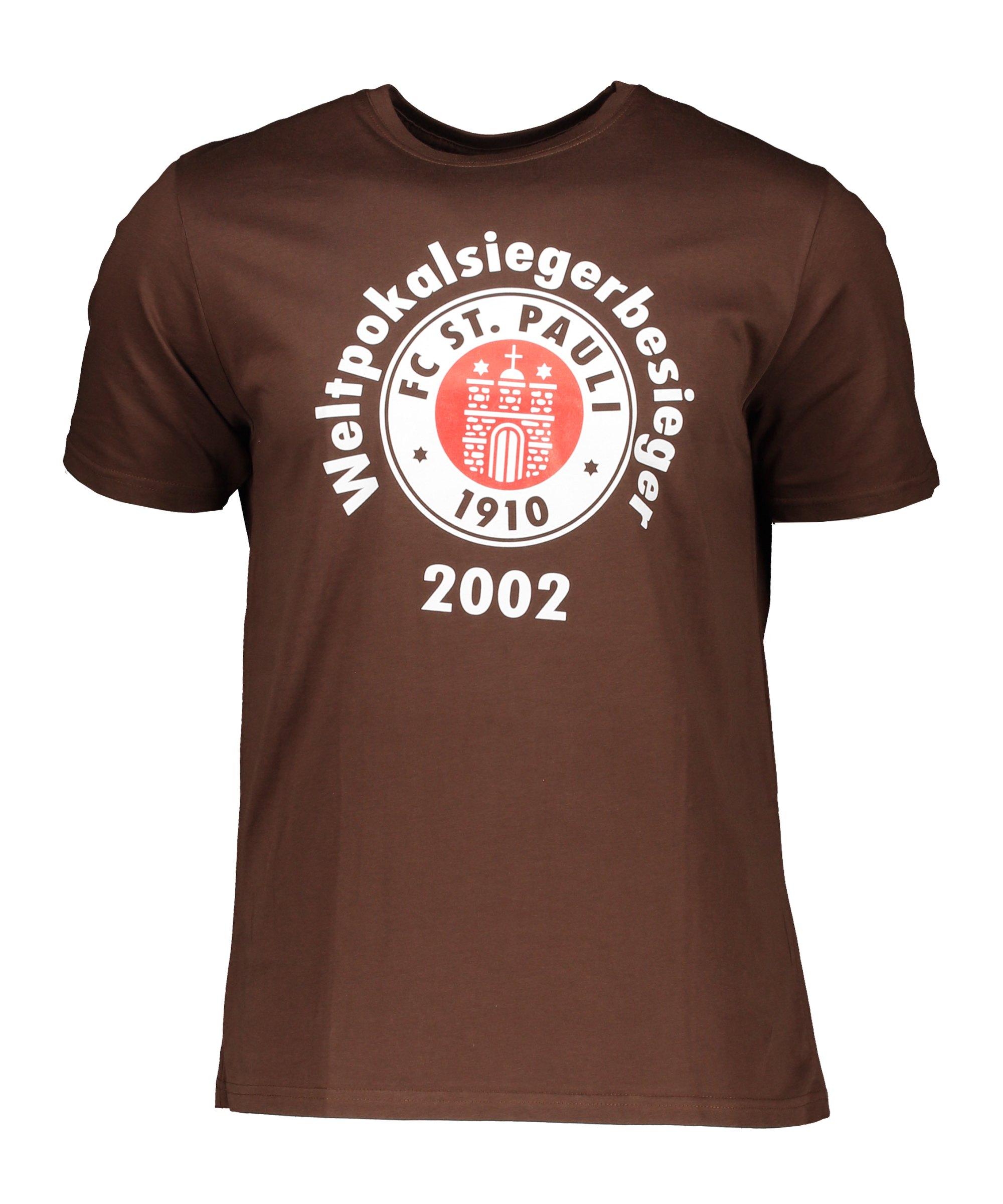 FC St. Pauli T-Shirt Weltpokalsiegerbesieger Braun - braun