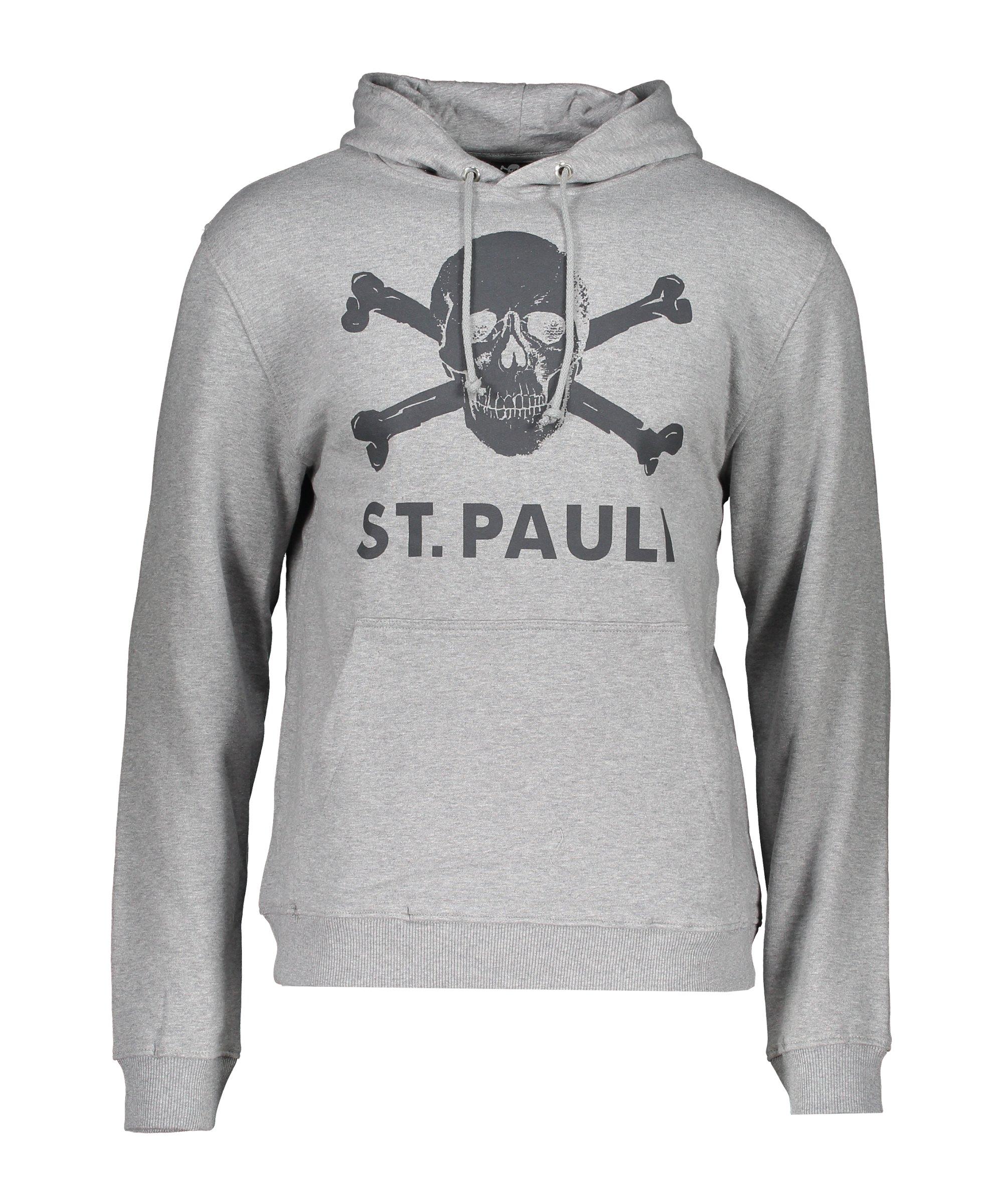 FC St. Pauli Totenkopf Hoody Grau - grau