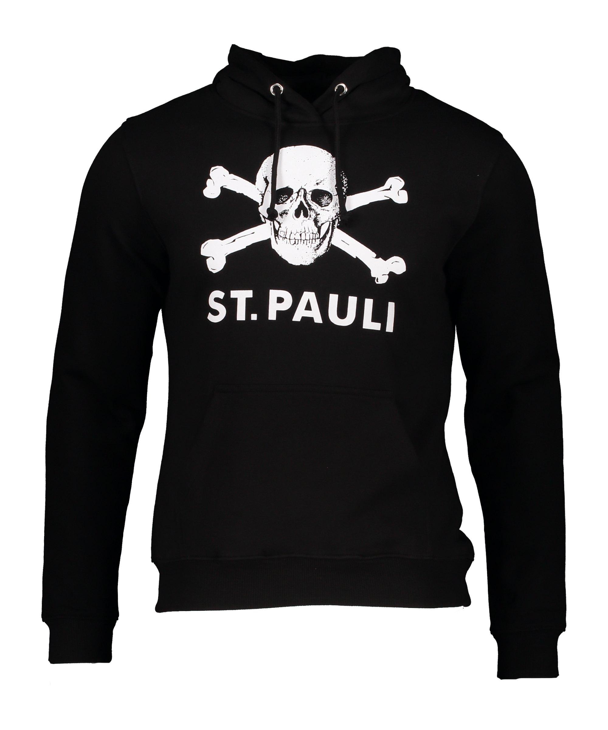 FC St. Pauli Totenkopf I Hoody Damen Schwarz - schwarz