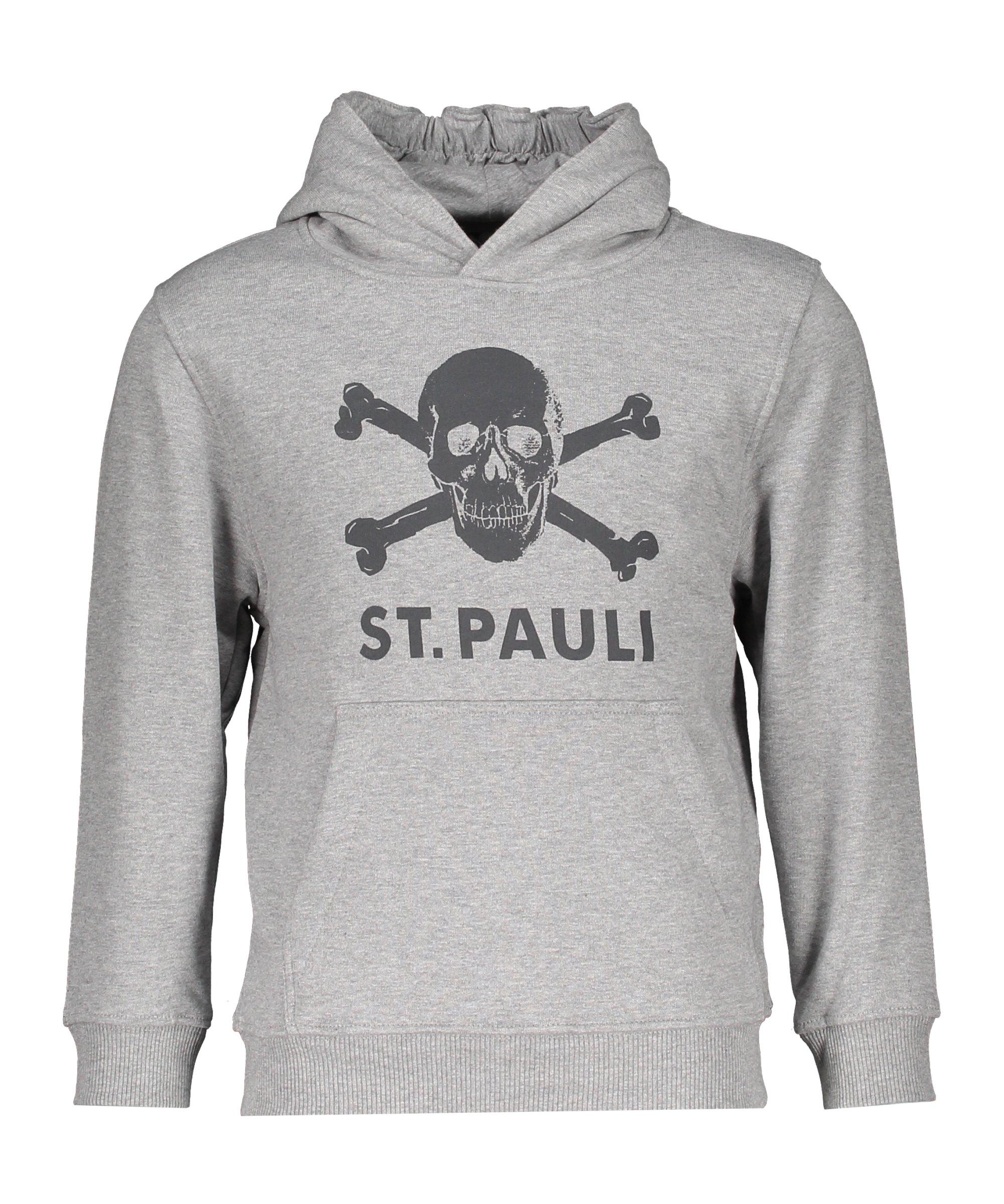 FC St. Pauli Totenkopf Hoody Kids Grau - grau