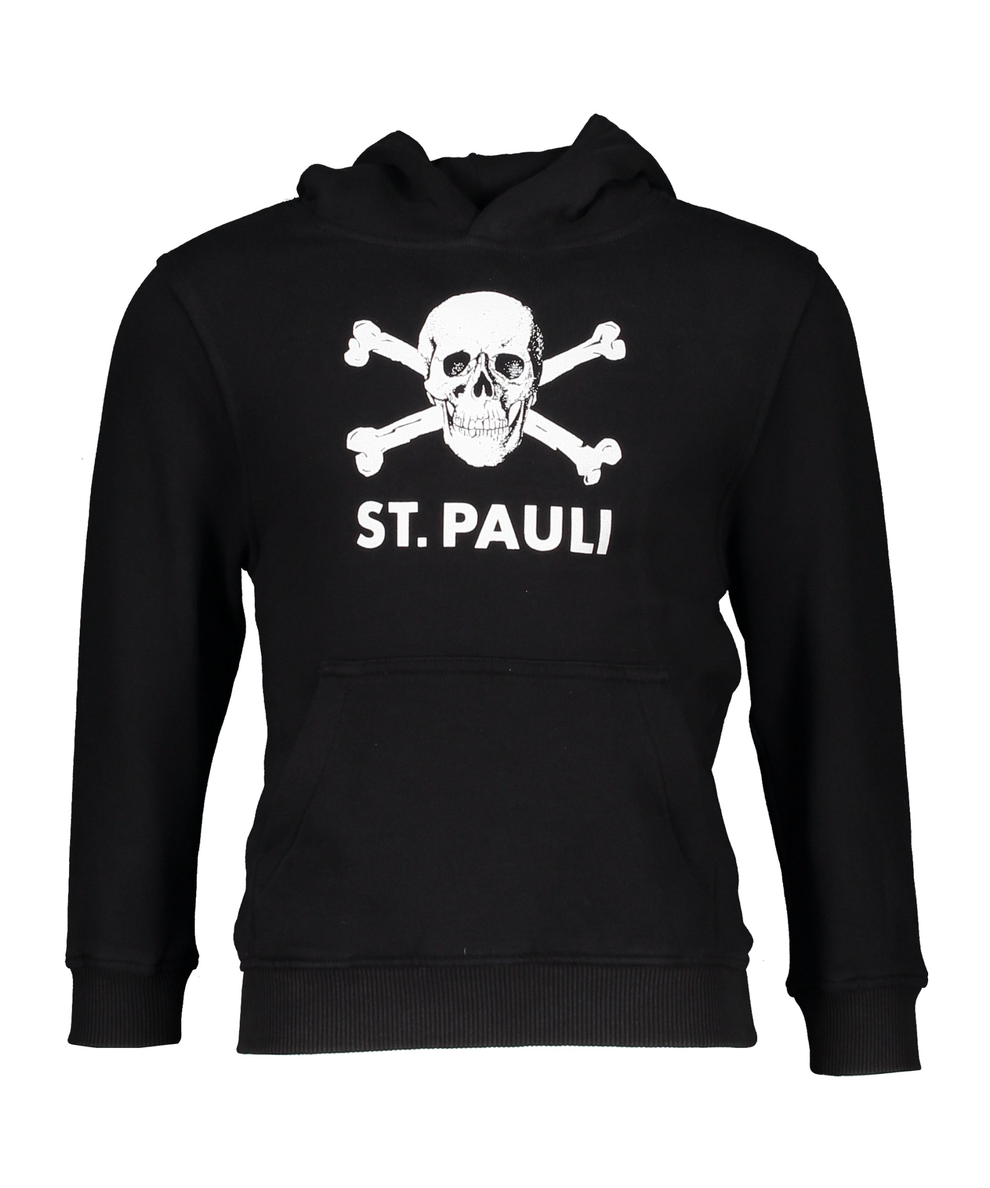 FC St. Pauli Totenkopf Hoody Kinder Schwarz Weiss - schwarz