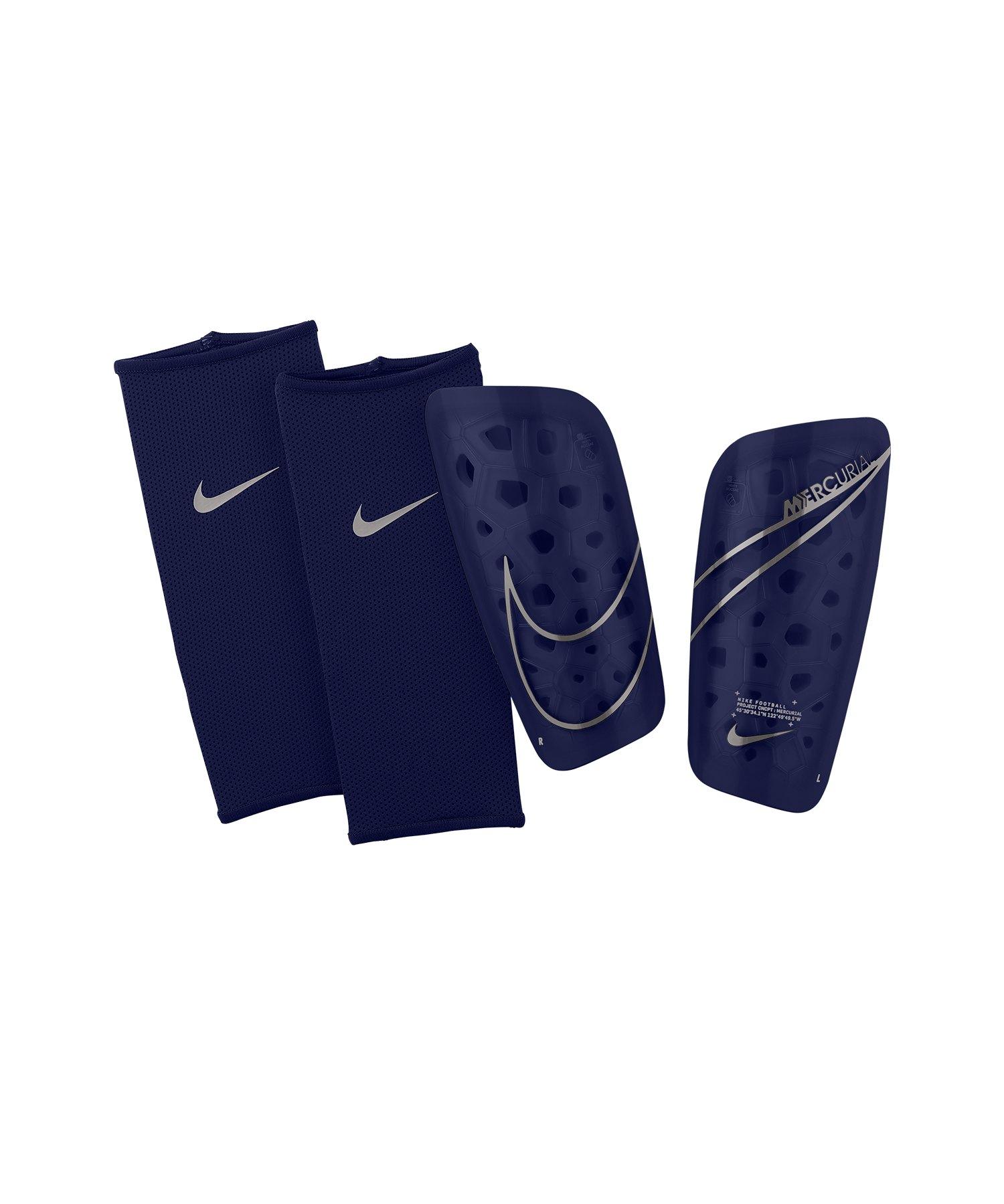 Nike Mercurial Lite Schienbeinschoner Blau F492 - blau