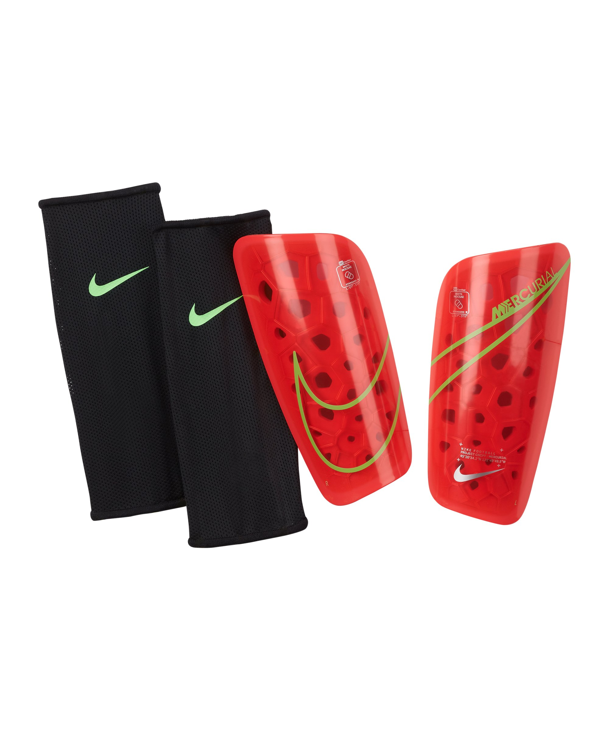 Nike Mercurial Lite Schienbeinschoner Rot F635 - rot
