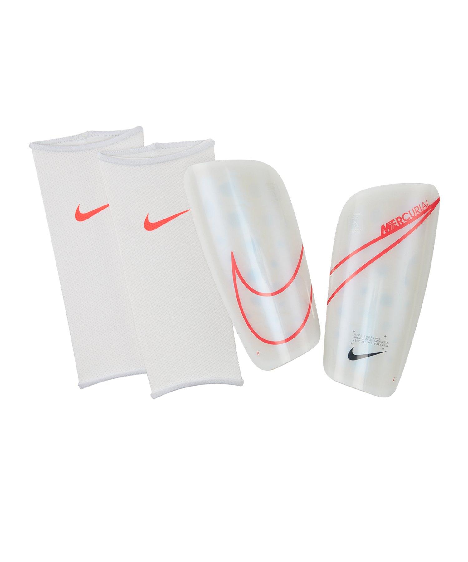 Nike Mercurial Lite Schienbeinschoner Weiss F105 - weiss