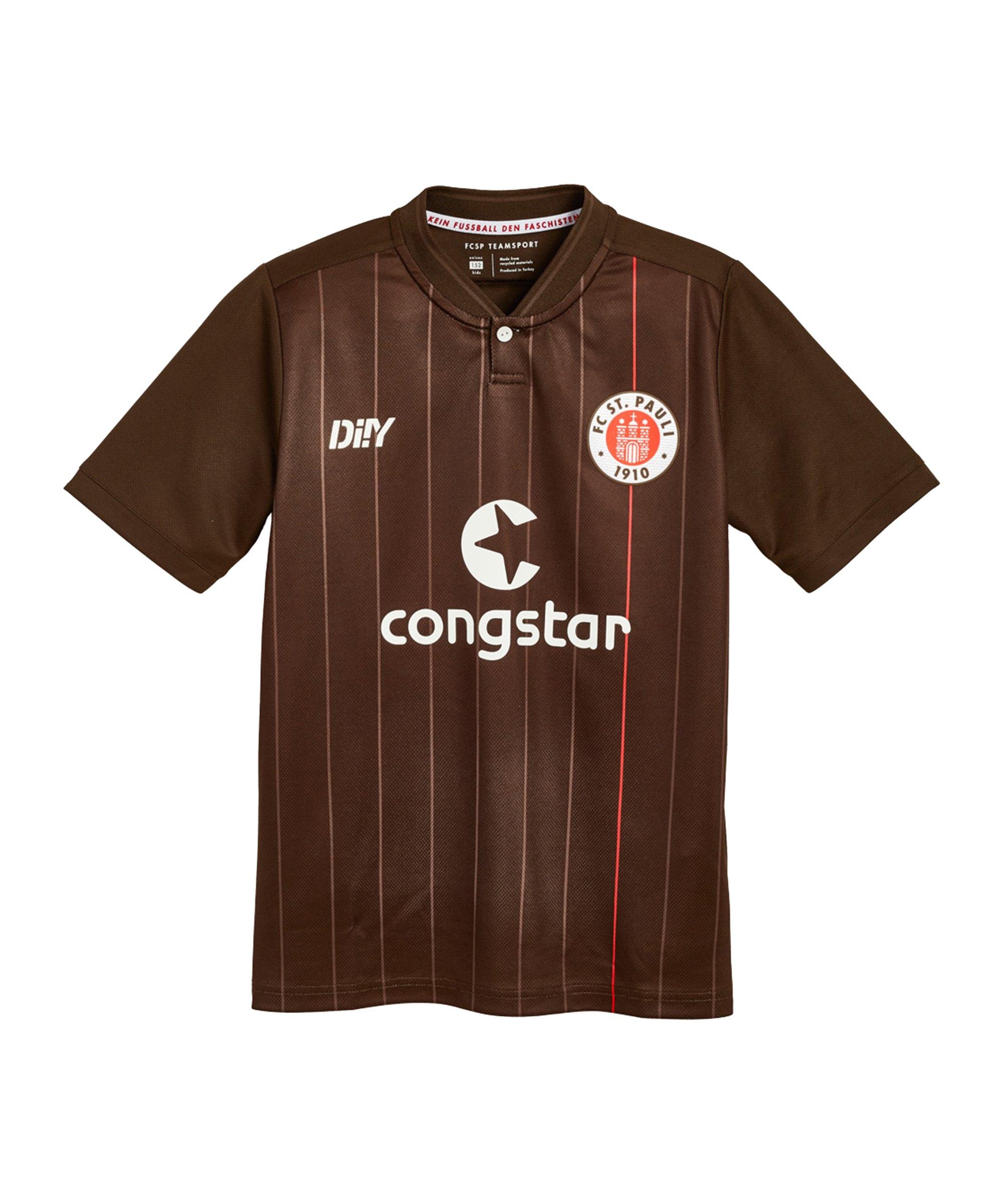 DIIY FC St. Pauli Trikot Home 2021/2022 Kids Braun - braun