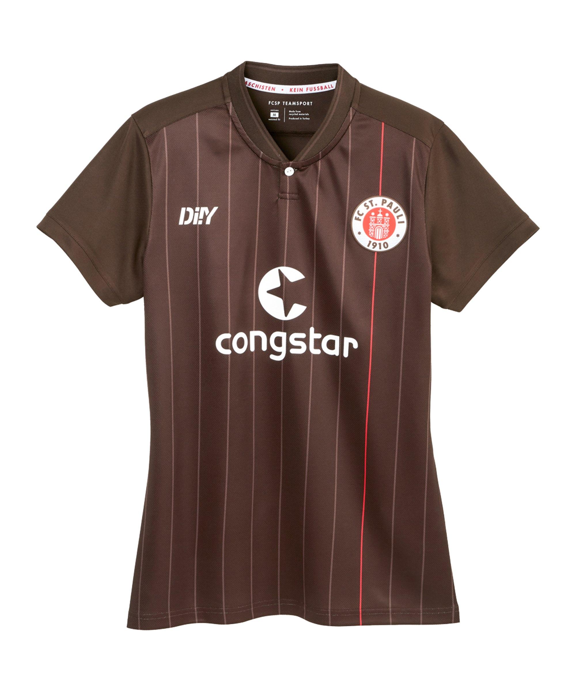 DIIY FC St. Pauli Trikot Home 2021/2022 Damen Braun - braun