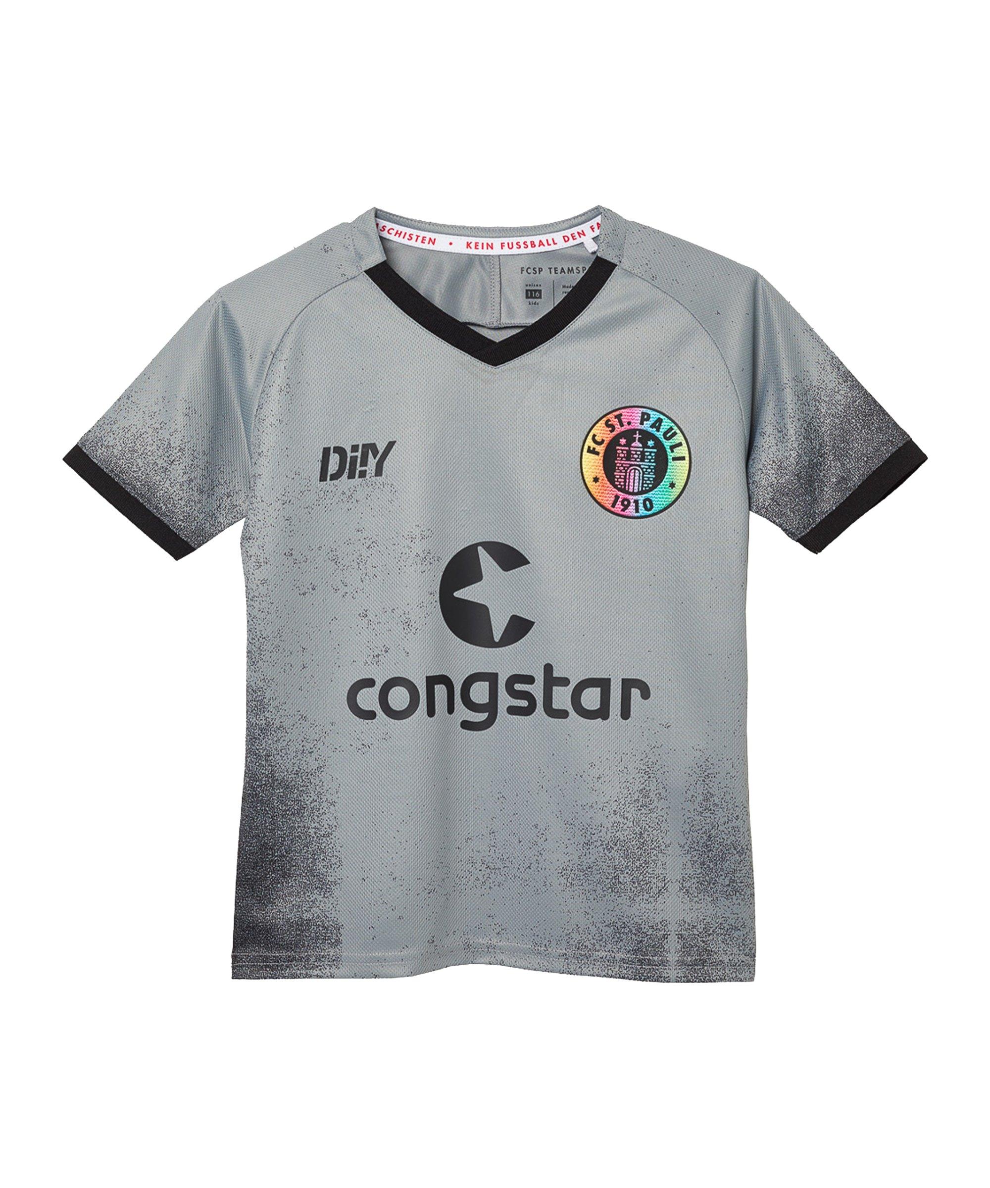 DIIY FC St. Pauli Trikot 3rd 2021/2022 Kids Grau - grau