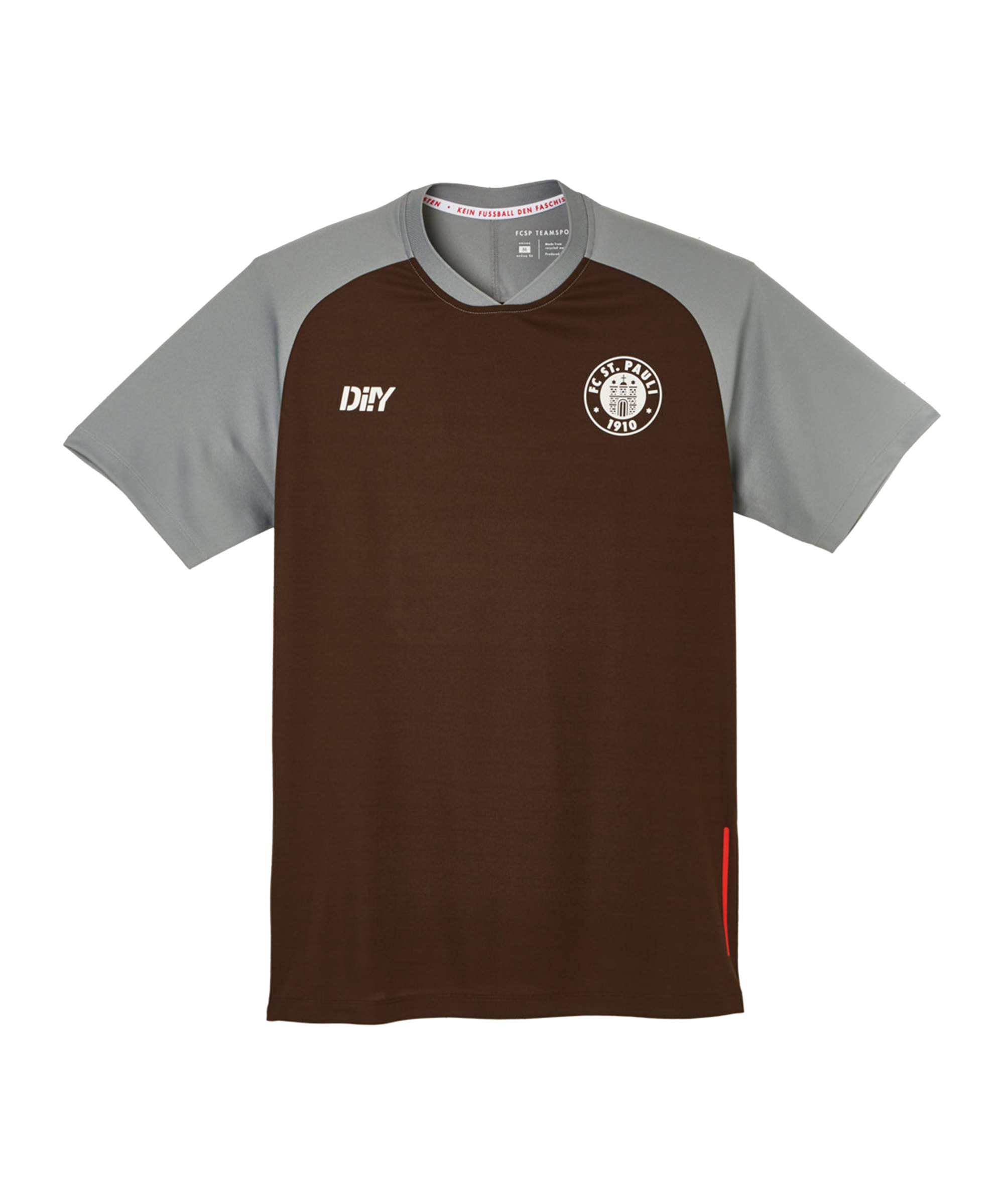 DIIY FC St. Pauli Trainingsshirt Braun - braun