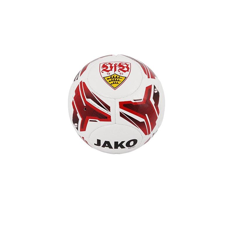 Jako VfB Stuttgart Miniball Fanball Weiss Rot F01 - weiß
