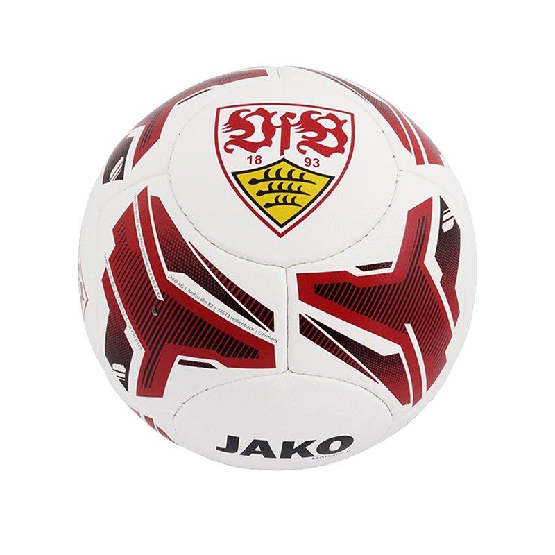 Jako VfB Stuttgart Fanball Fussball Weiss Rot F10 - weiß