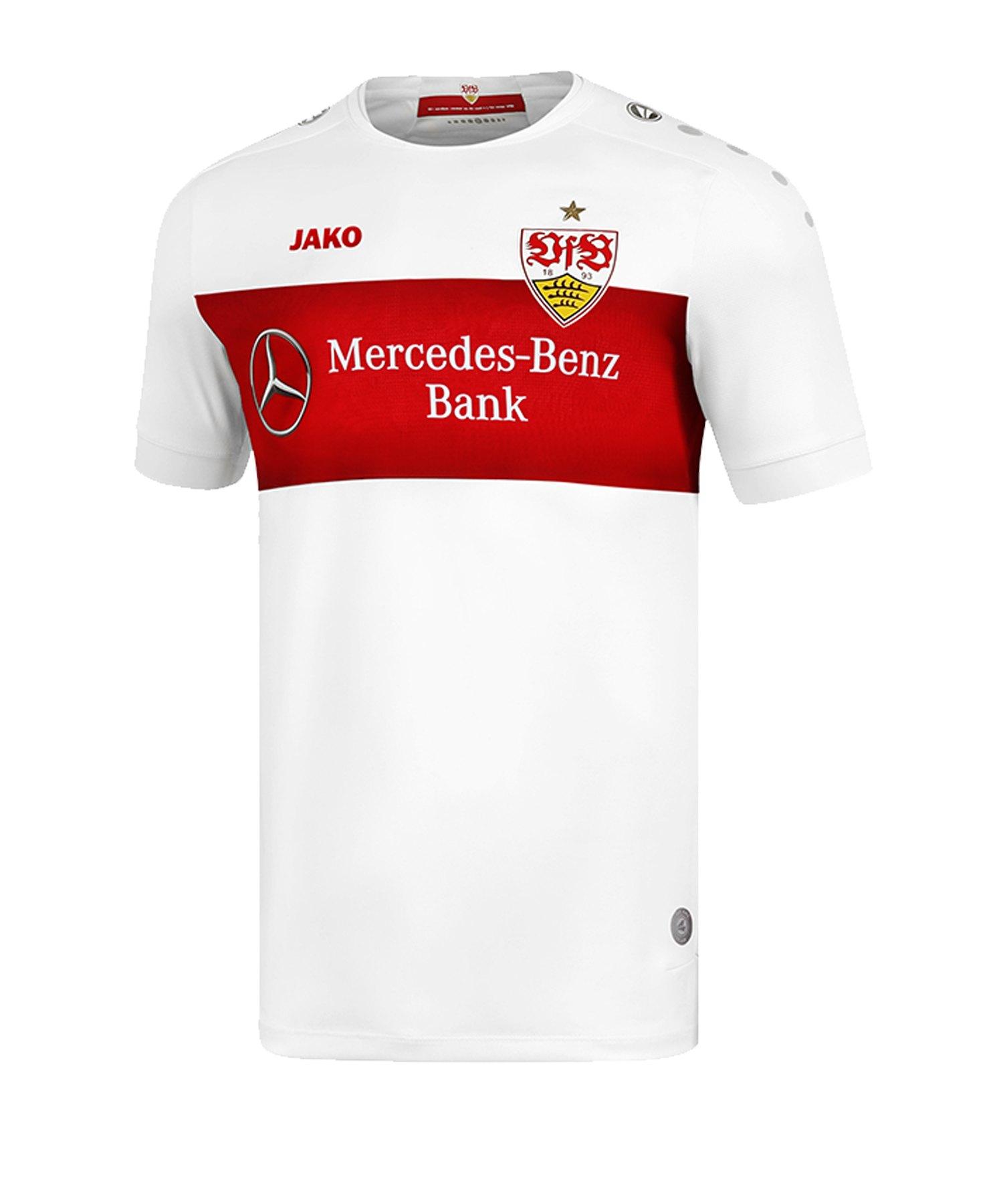 JAKO VfB Stuttgart Trikot Home 2019/2020 Weiss F00 - weiss