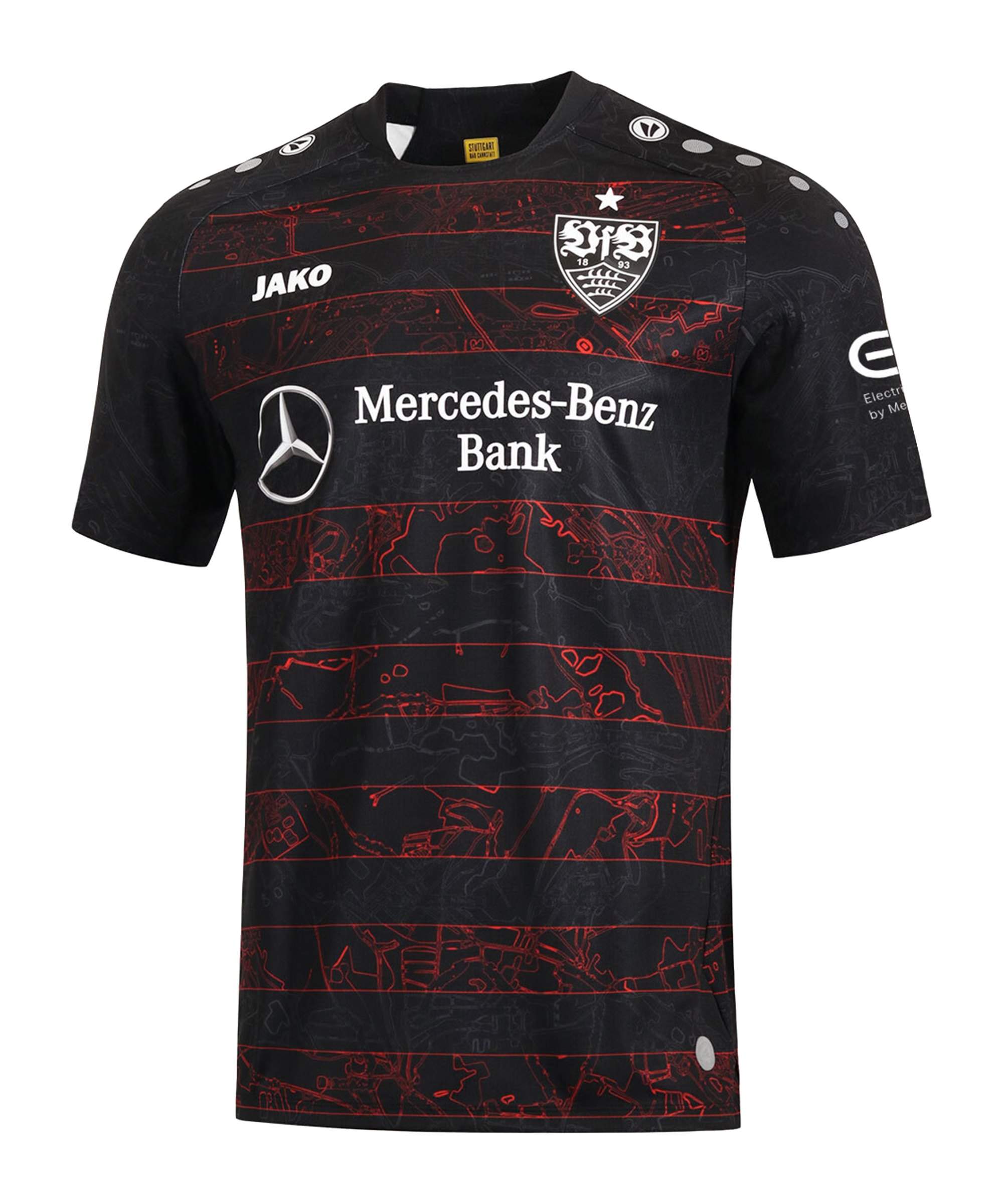 JAKO VfB Stuttgart Trikot Away 2020/2021 Kids Schwarz F08 - schwarz