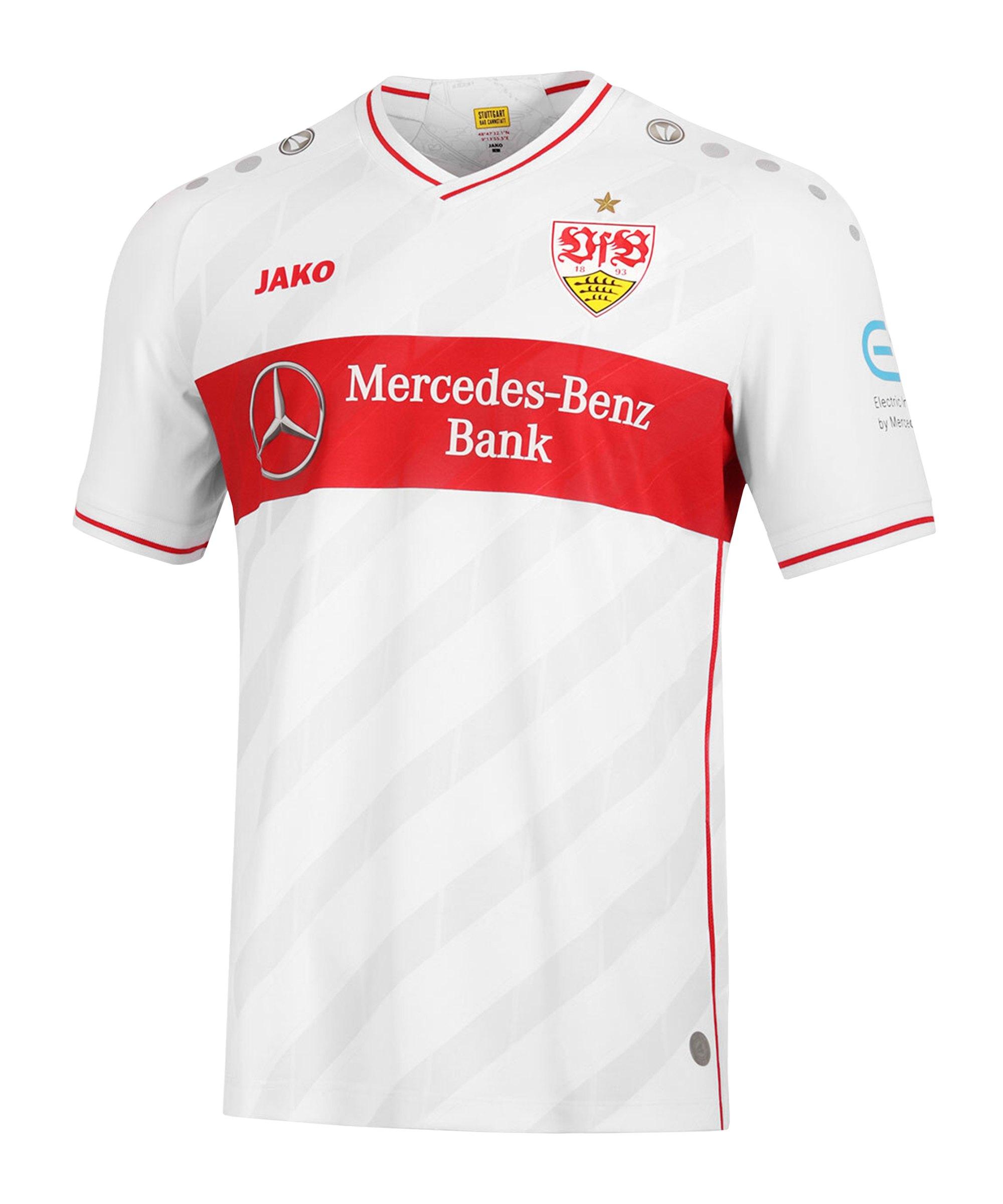 JAKO VfB Stuttgart Trikot Home 2020/2021 Weiss F00 - weiss